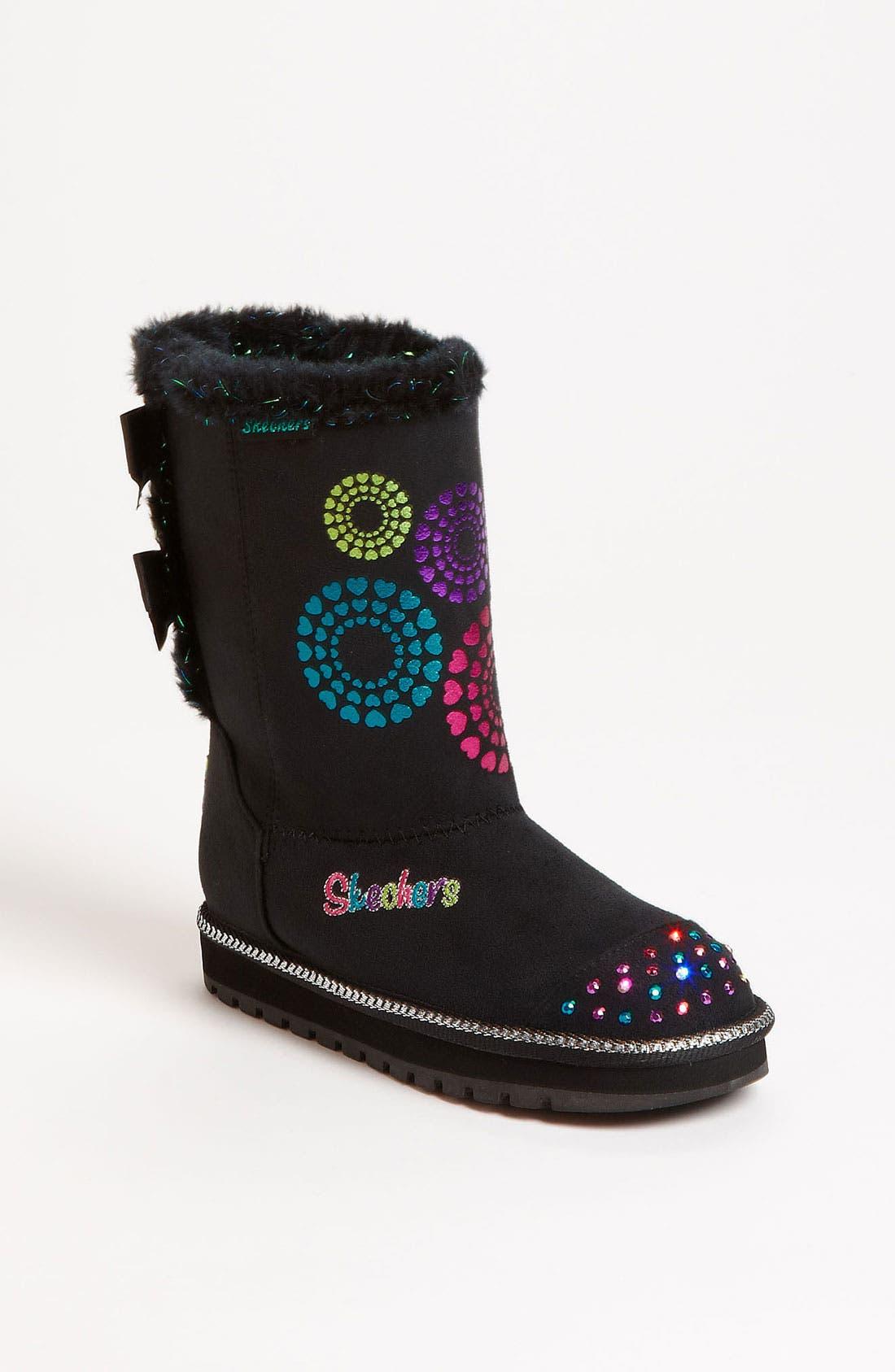 Main Image - SKECHERS 'Baby Bow' Light-Up Boot (Walker, Toddler, Little Kid & Big Kid)