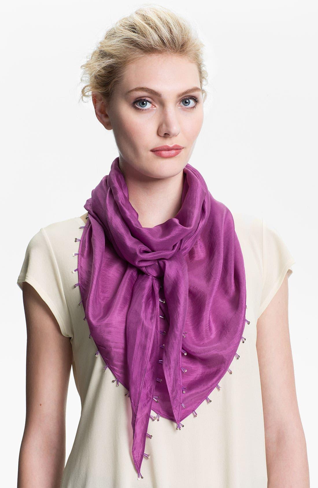 Alternate Image 1 Selected - Eileen Fisher 'Whisper Silk' Beaded Scarf