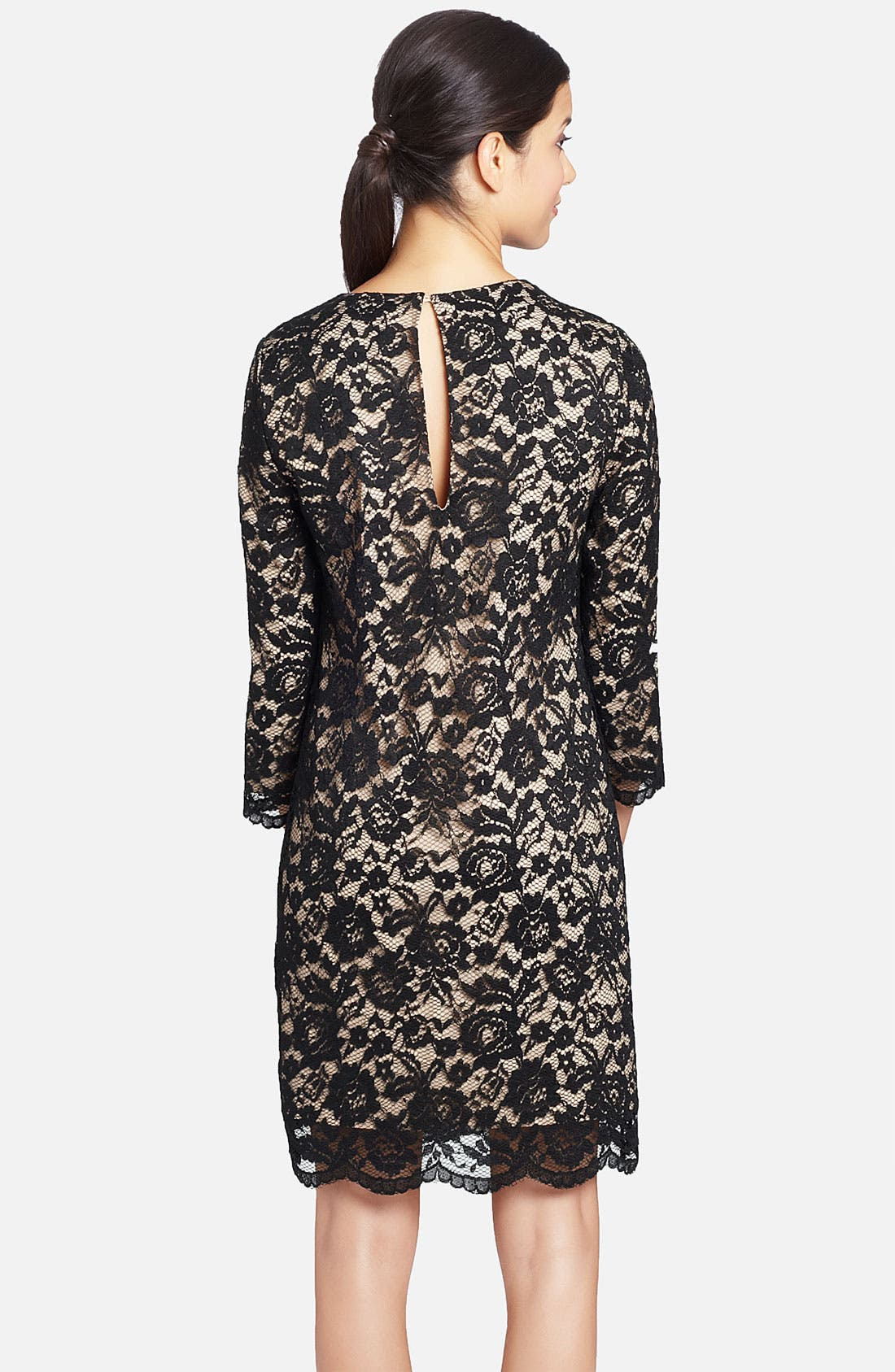 Alternate Image 2  - Cynthia Steffe 'Vida' Scalloped Hem Lace Shift Dress
