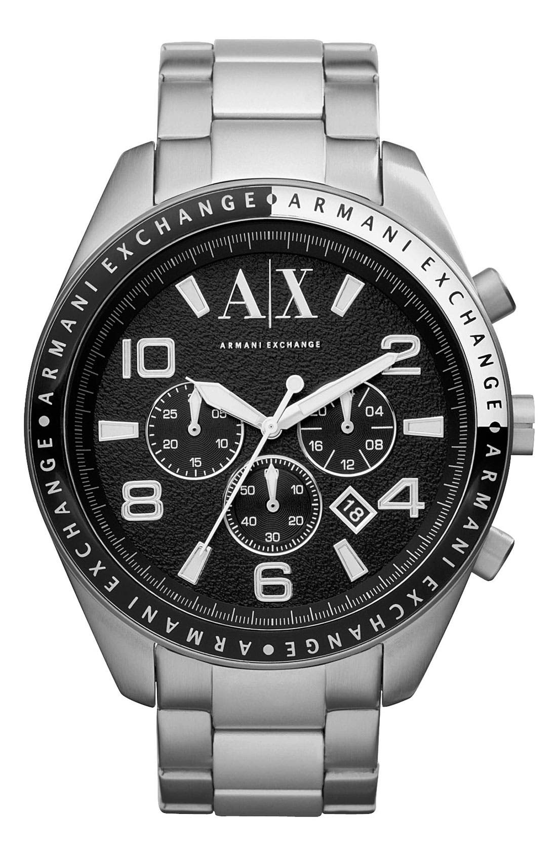 Alternate Image 1 Selected - AX Armani Exchange Round Bracelet Watch, 47mm