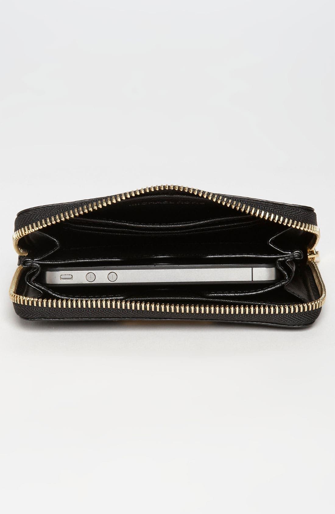 Alternate Image 3  - MICHAEL Michael Kors Python Embossed iPhone Wristlet