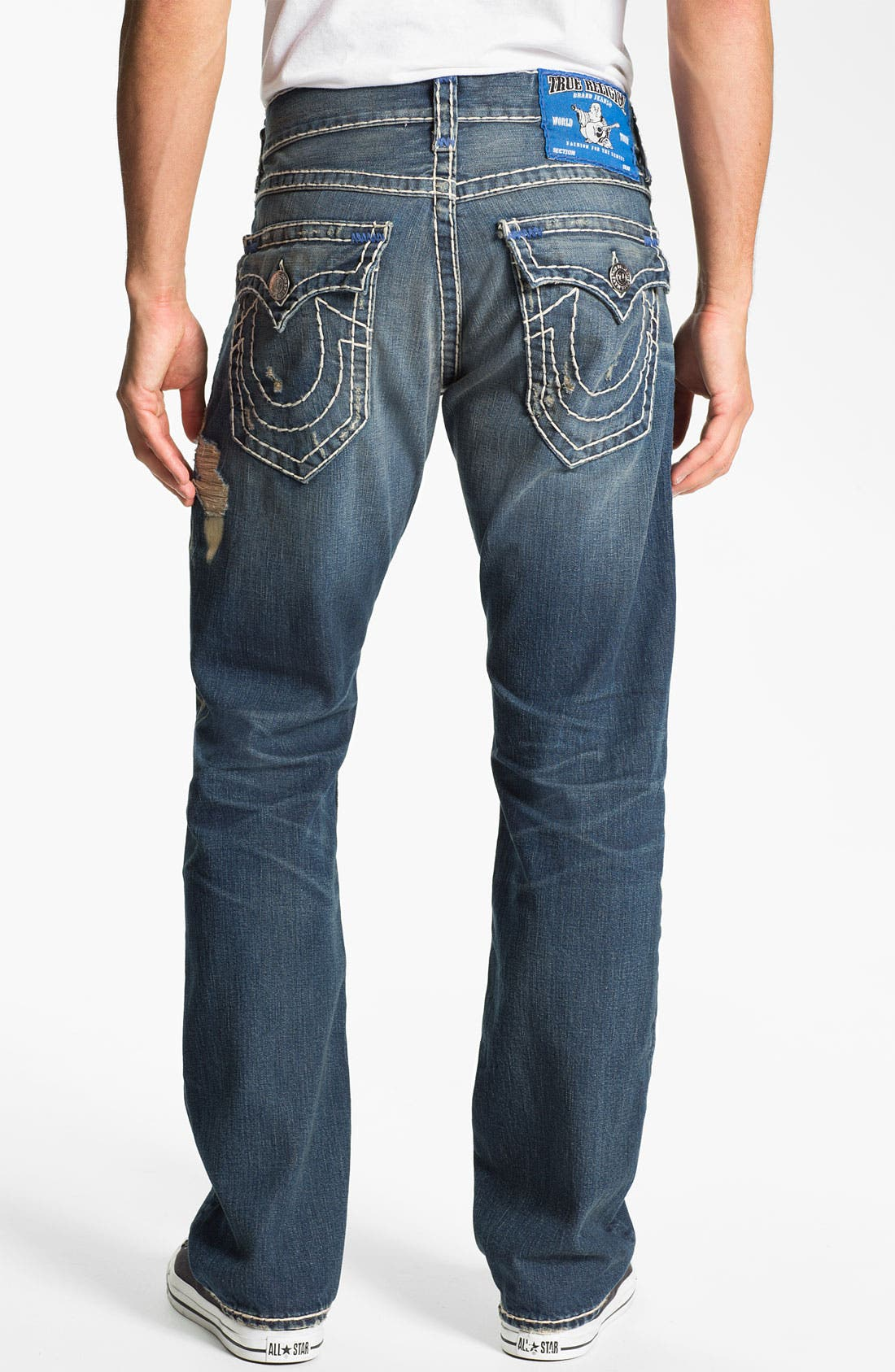 Alternate Image 1 Selected - True Religion Brand Jeans 'Ricky' Straight Leg Jeans (Old Country)