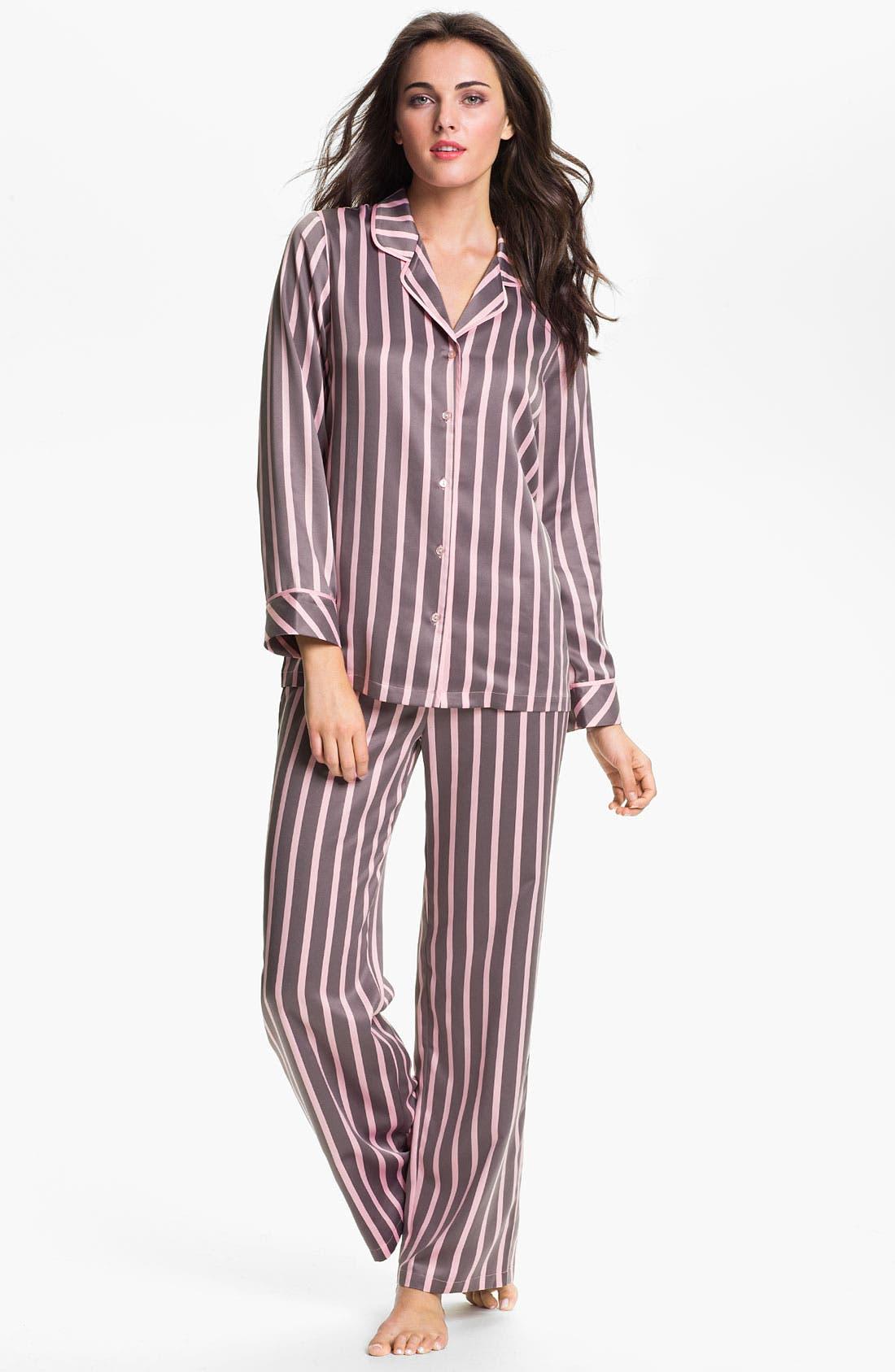 Alternate Image 1 Selected - Nordstrom 'Glam' Satin Pajamas
