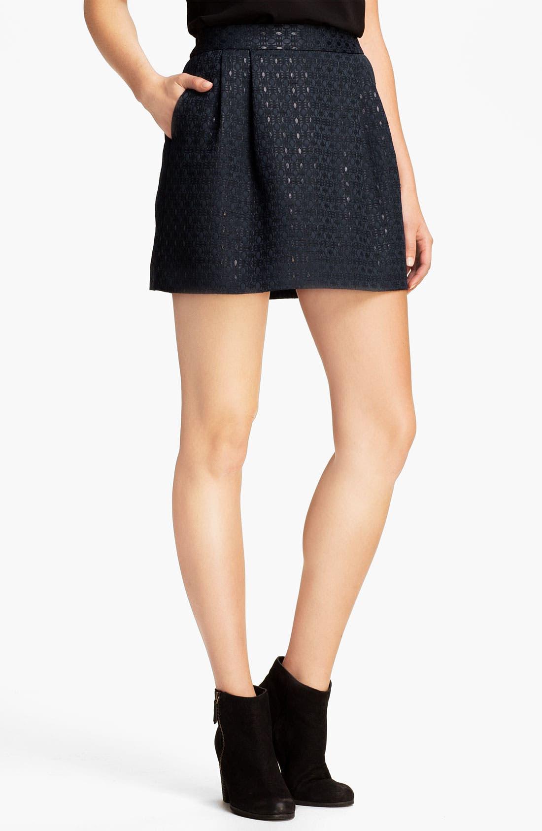 Main Image - Original Frenchi Brocade Skirt (Juniors)