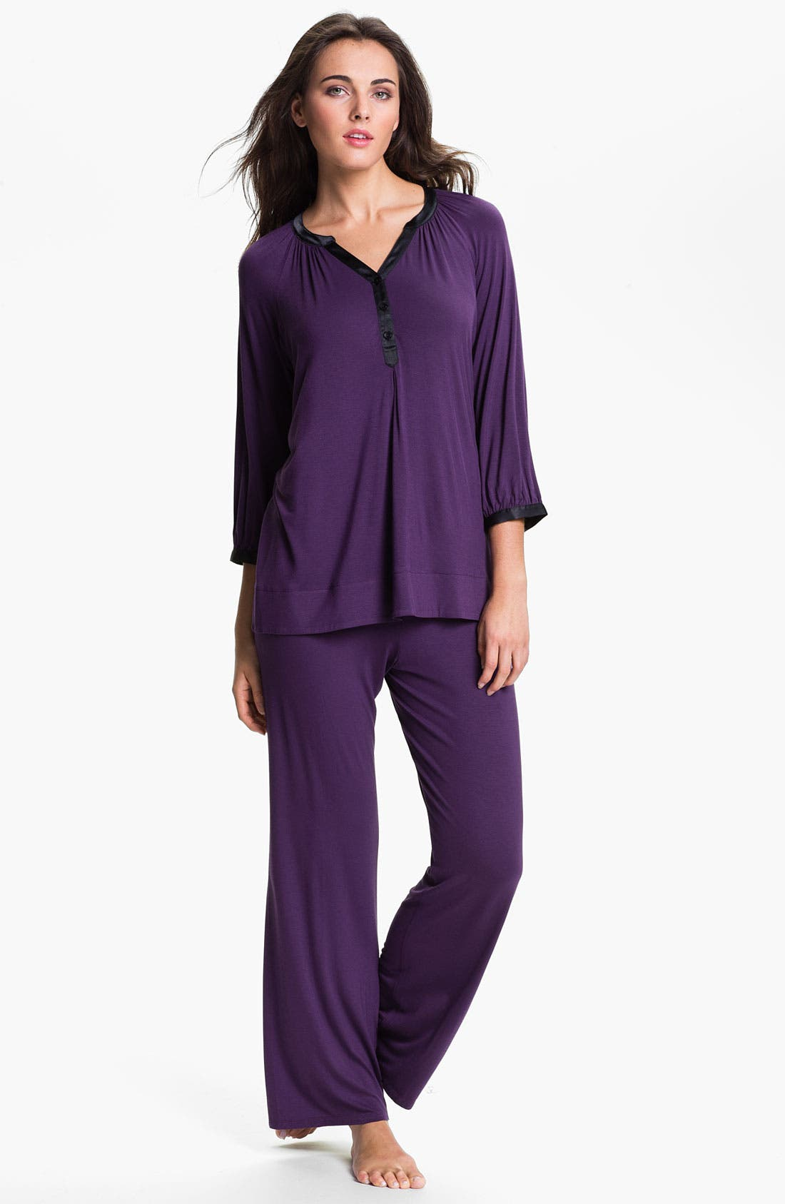 Alternate Image 1 Selected - Midnight by Carole Hochman 'Timeless Love' Pajamas