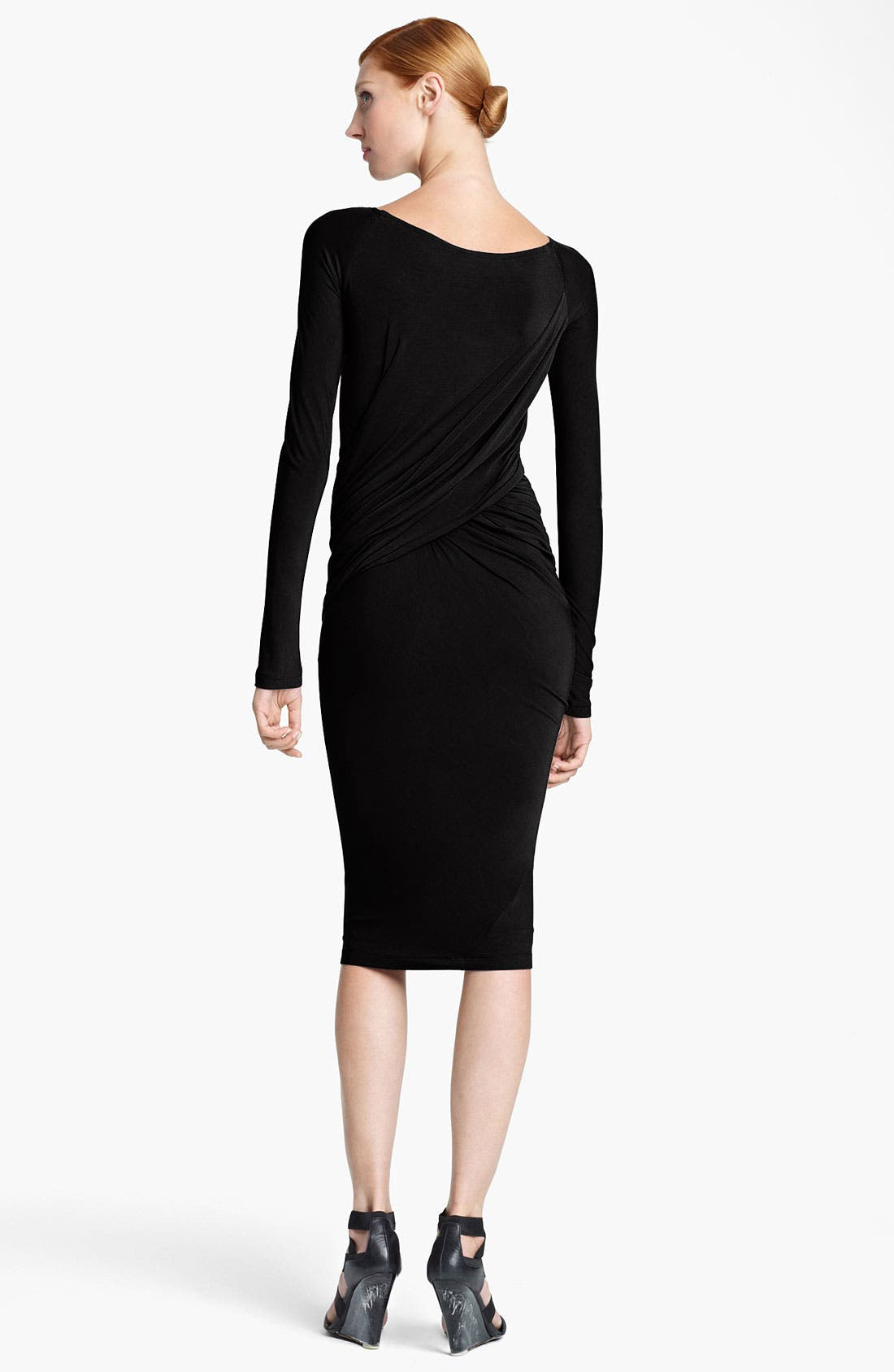 Alternate Image 2  - Donna Karan Collection Draped Jersey Dress