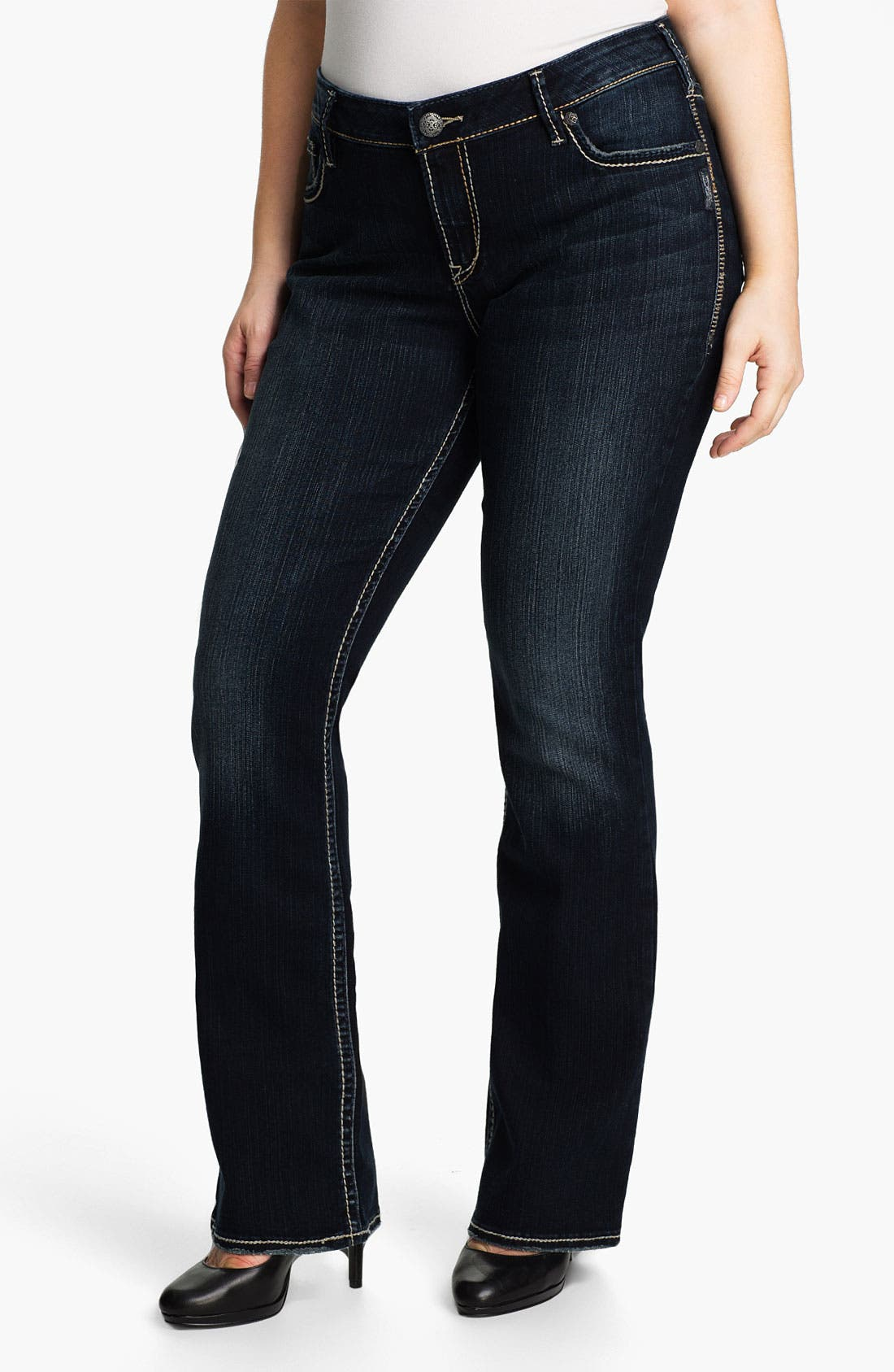 'Aiko' Bootcut Jeans,                             Main thumbnail 1, color,                             Dark Wash