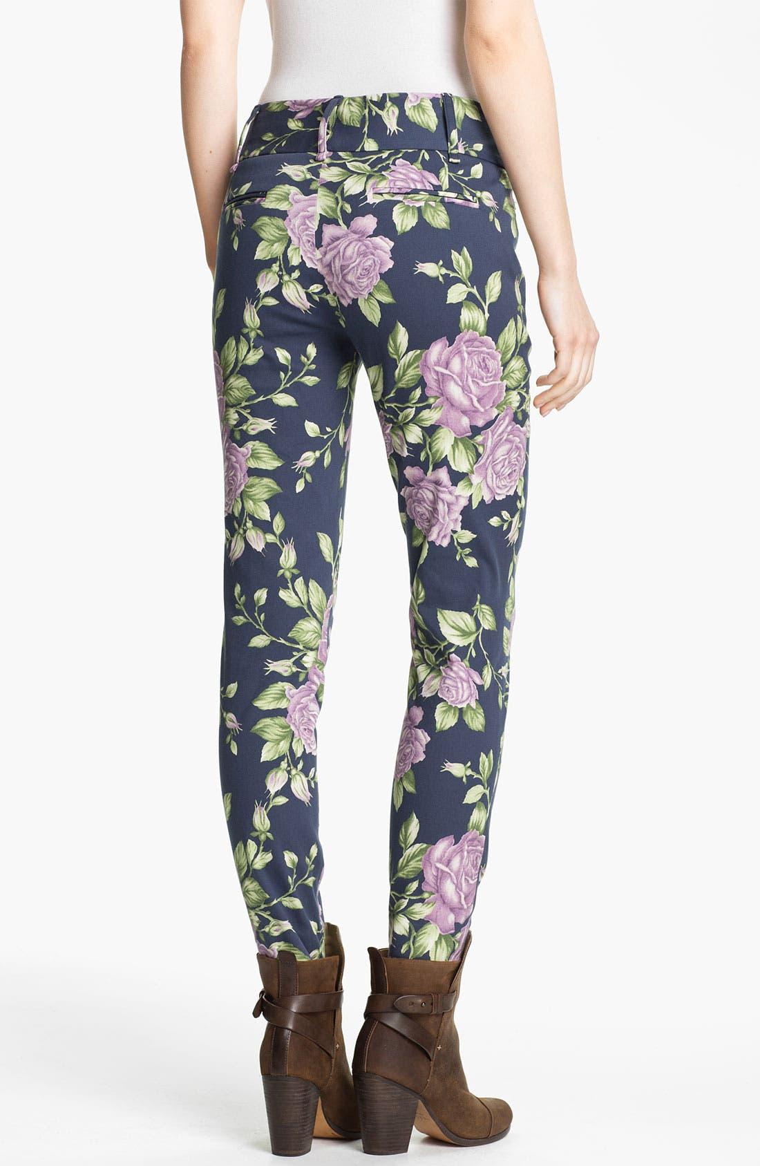 Alternate Image 2  - rag & bone 'Malin' Floral Print Skinny Stretch Pants