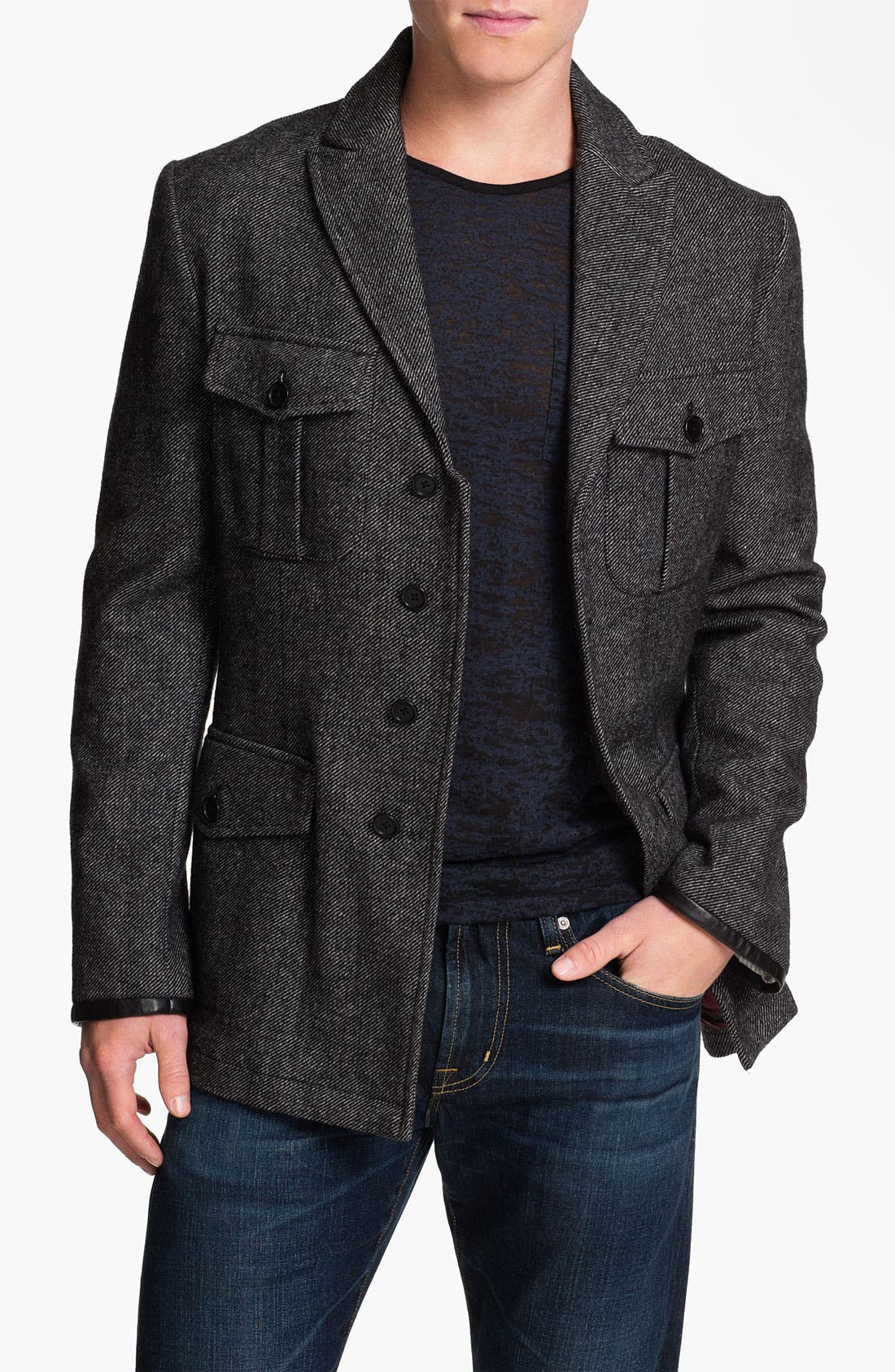 Main Image - John Varvatos Star USA 'Military Luxe' Wool Blend Jacket