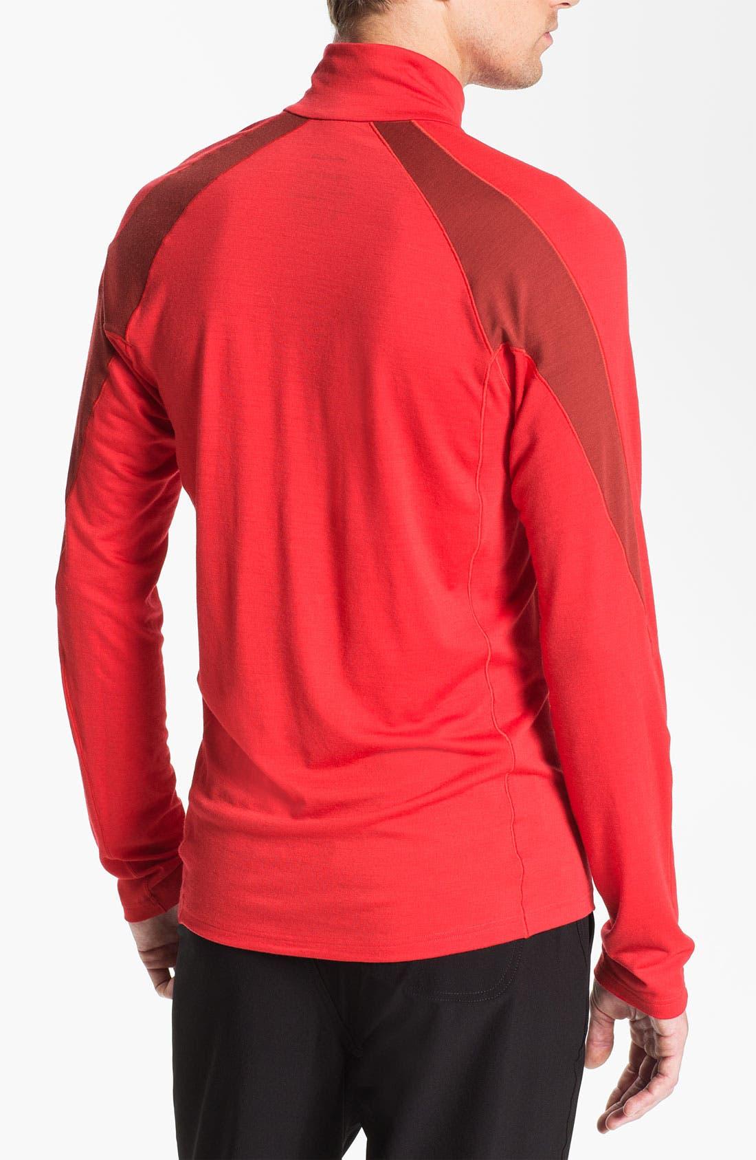 Alternate Image 2  - Patagonia 'Merino® 2' Half Zip Long Sleeve T-Shirt (Online Only)