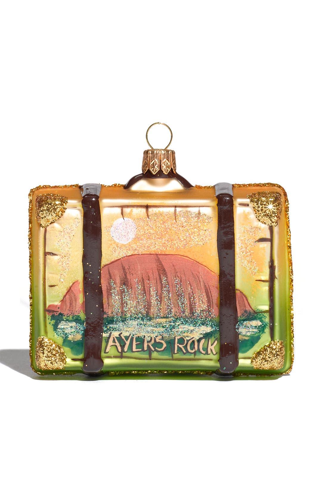 Alternate Image 2  - Nordstrom at Home 'Australia' Glass Suitcase Ornament