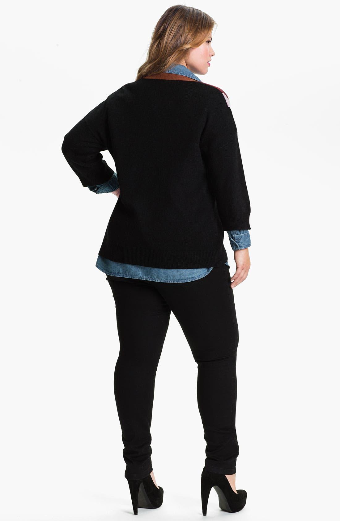 Alternate Image 2  - Evans 'Clover' Cardigan (Plus Size)