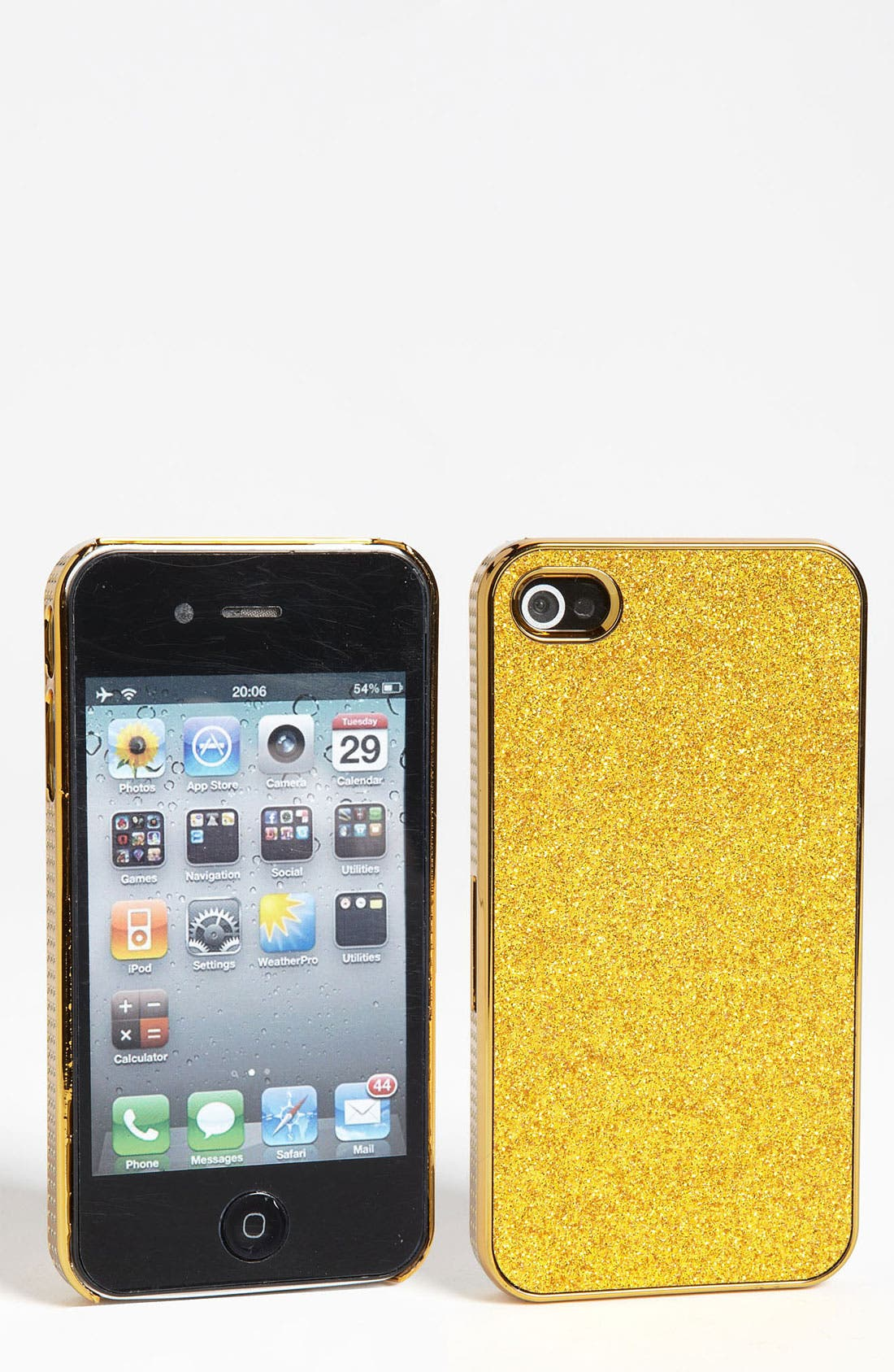 Alternate Image 1 Selected - Design Lab 'Glitter' iPhone 4 & 4S Case