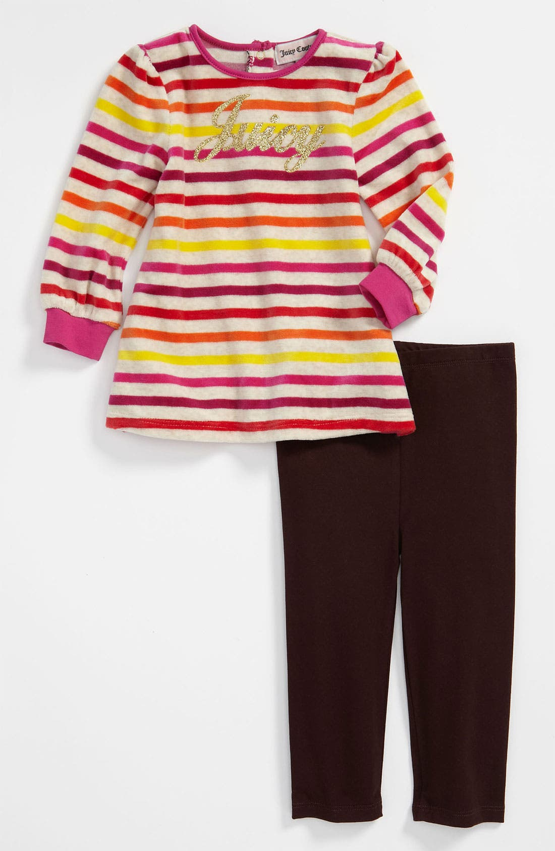Alternate Image 1 Selected - Juicy Couture Tunic & Leggings (Infant)