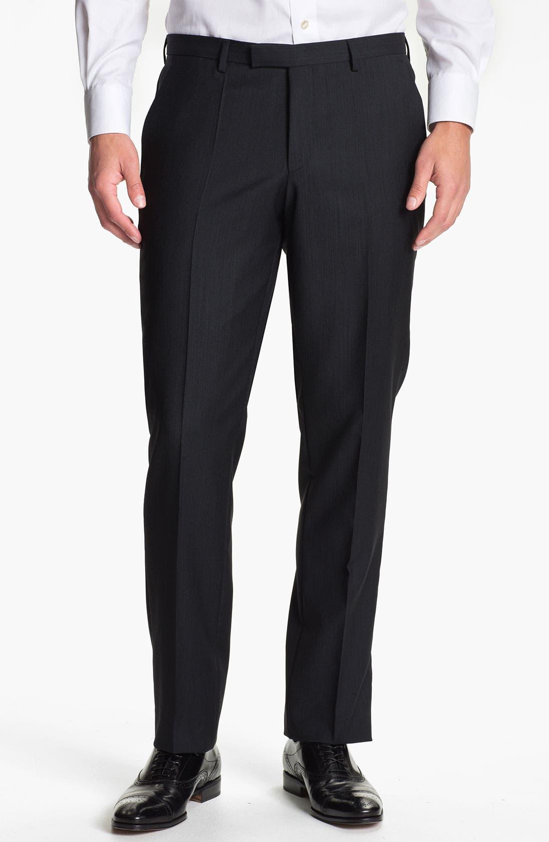 Alternate Image 1 Selected - BOSS Black 'Sharp' Flat Front Trousers