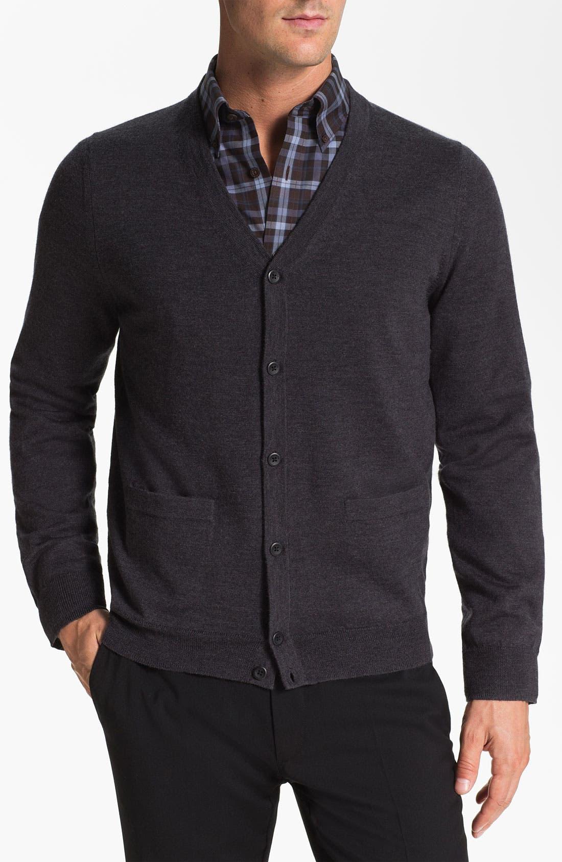Alternate Image 1 Selected - Nordstrom Merino Wool Button Cardigan