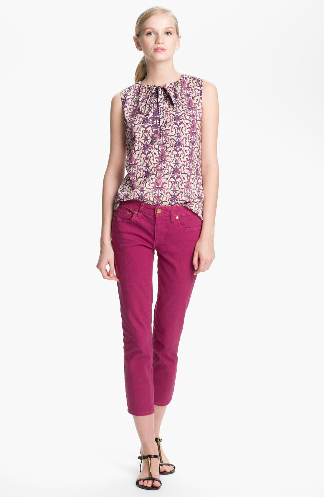 Alternate Image 2  - Tory Burch 'Alexia' Crop Skinny Stretch Jeans