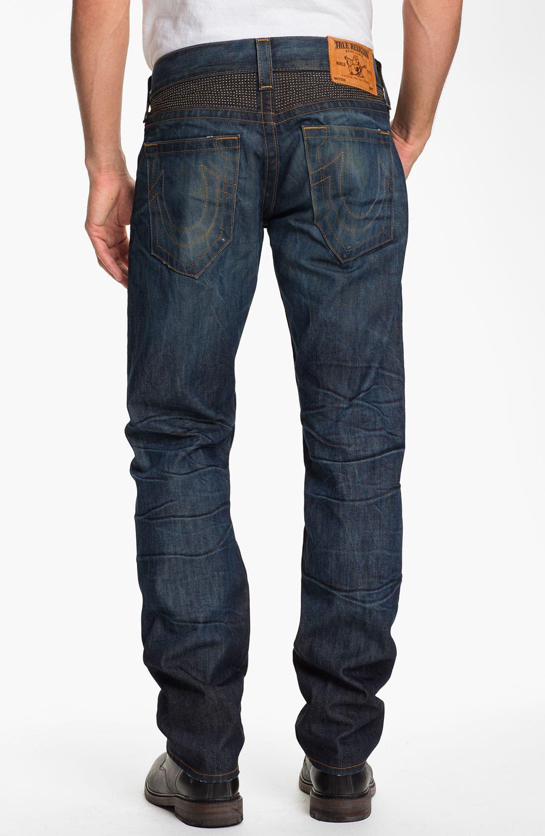 Main Image - True Religion Brand Jeans 'Geno' Slim Straight Leg Jeans (Hideout)