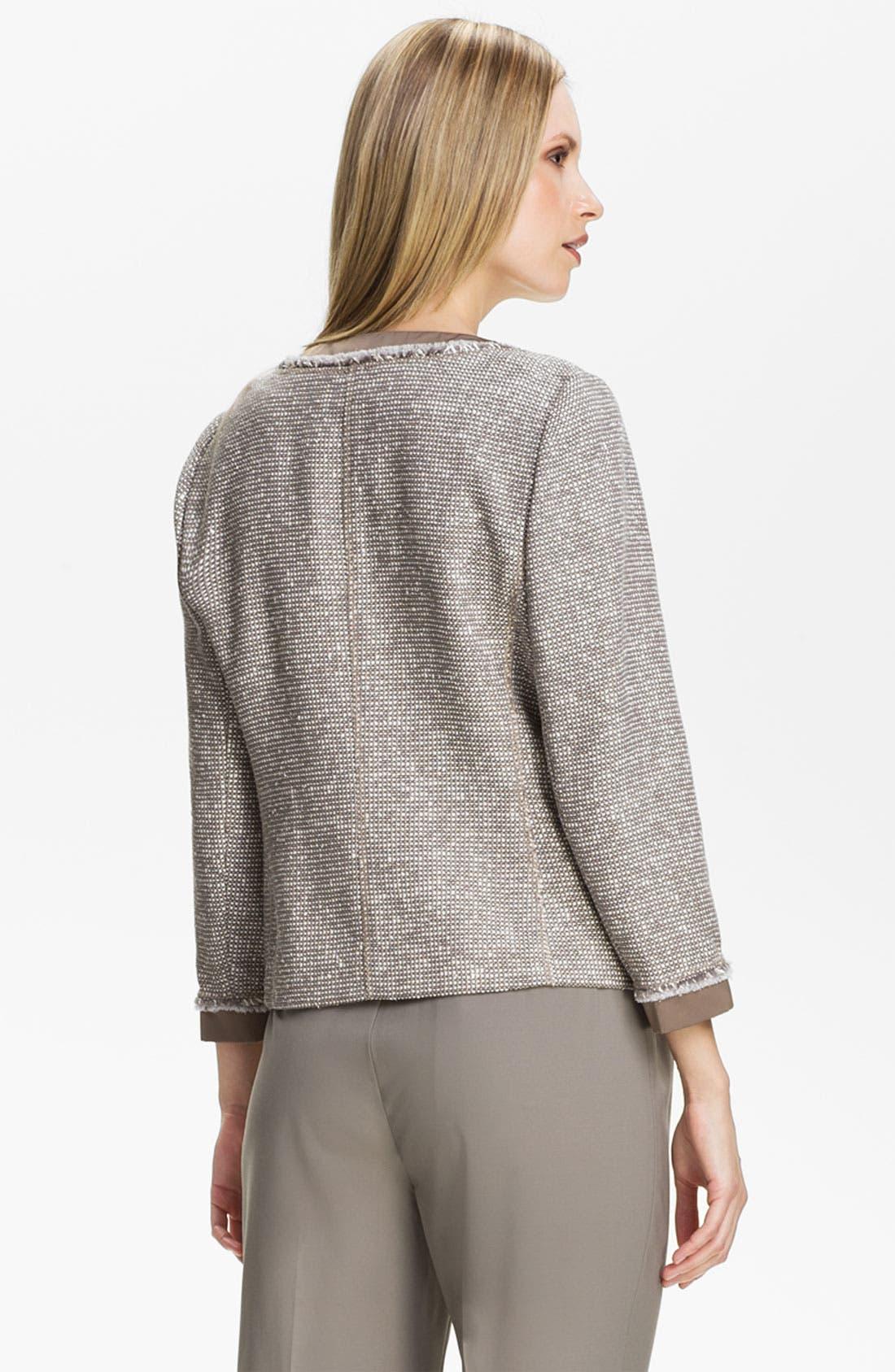 Alternate Image 2  - Lafayette 148 New York 'Antonia' Tweed Jacket