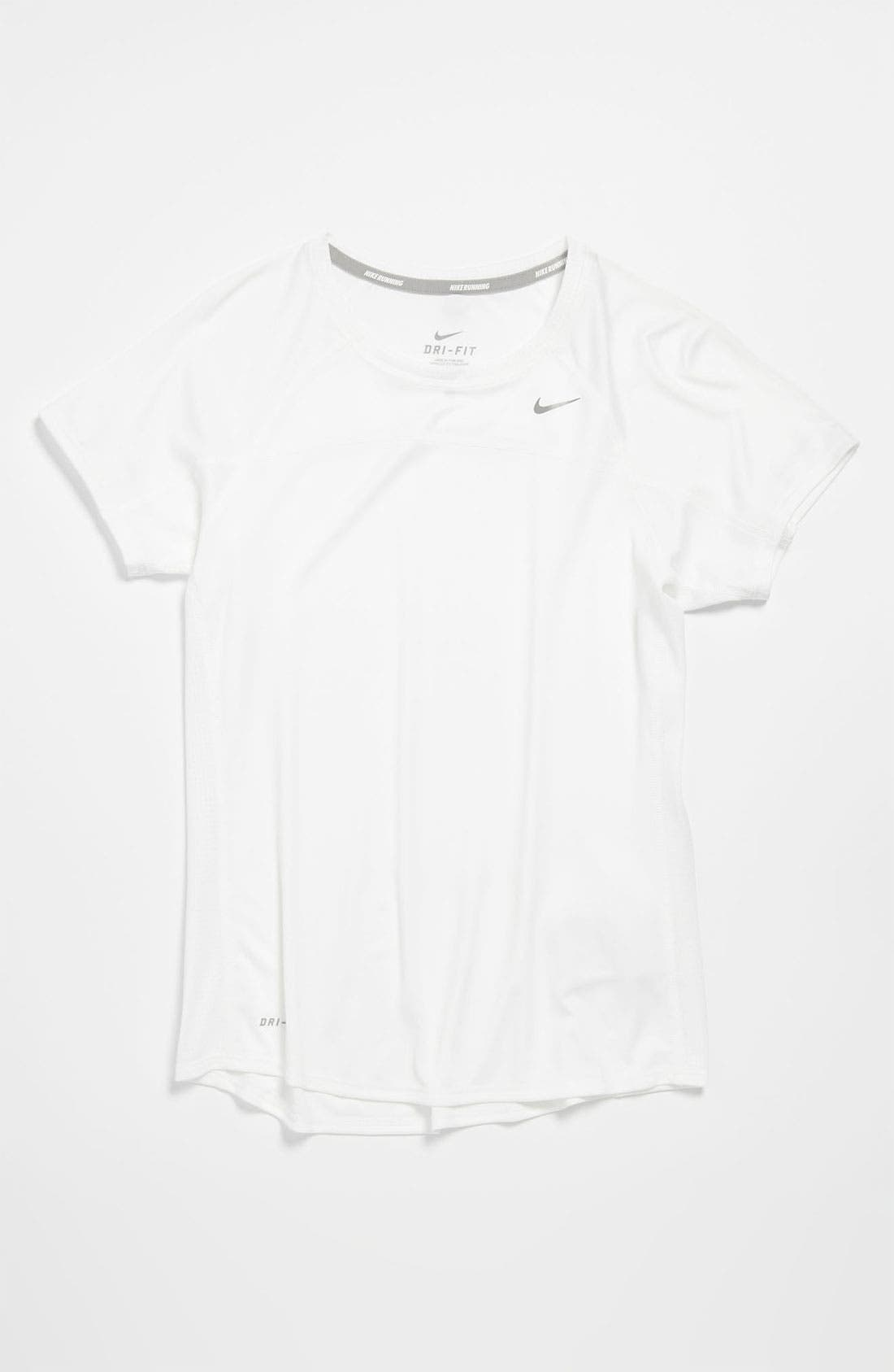 Alternate Image 1 Selected - Nike 'Miler' Top (Big Girls)