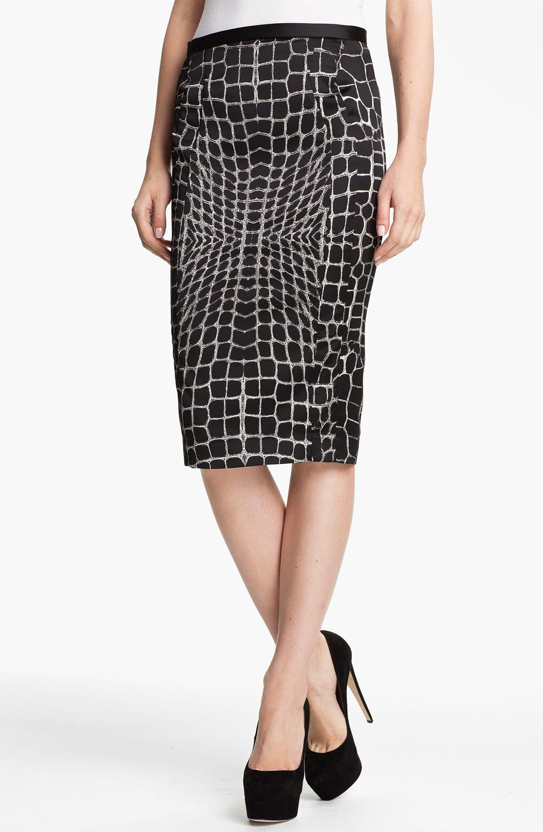 Main Image - Just Cavalli Alligator Print Pencil Skirt
