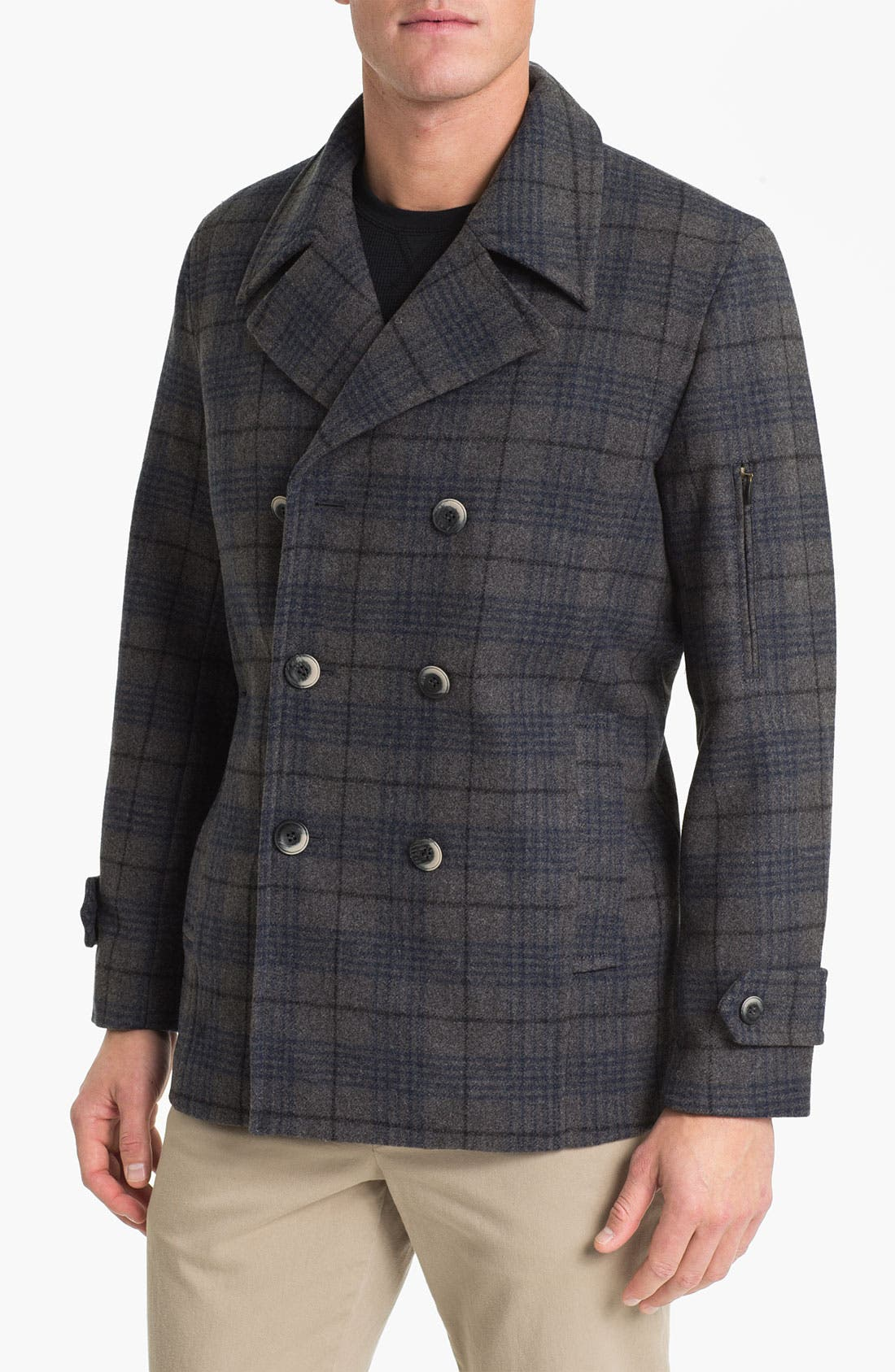Main Image - Pendleton Fitted Peacoat