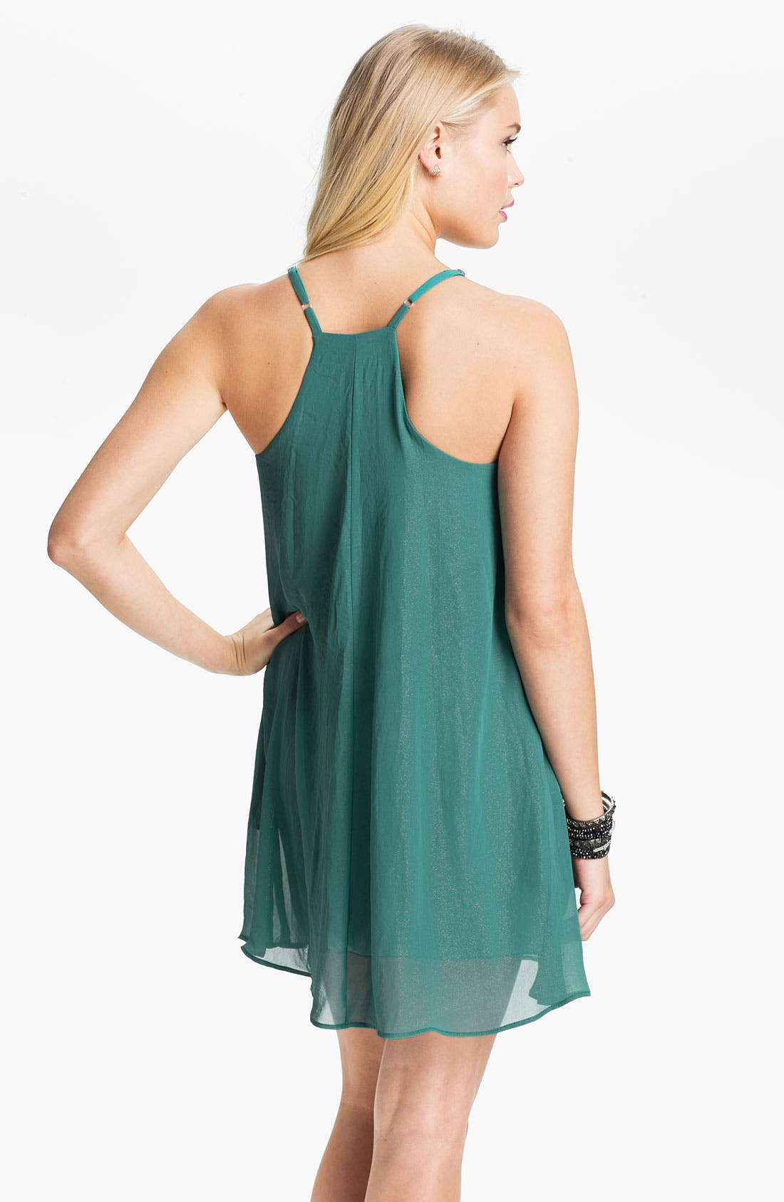 Alternate Image 2  - dee elle Chiffon Trapeze Dress (Juniors)
