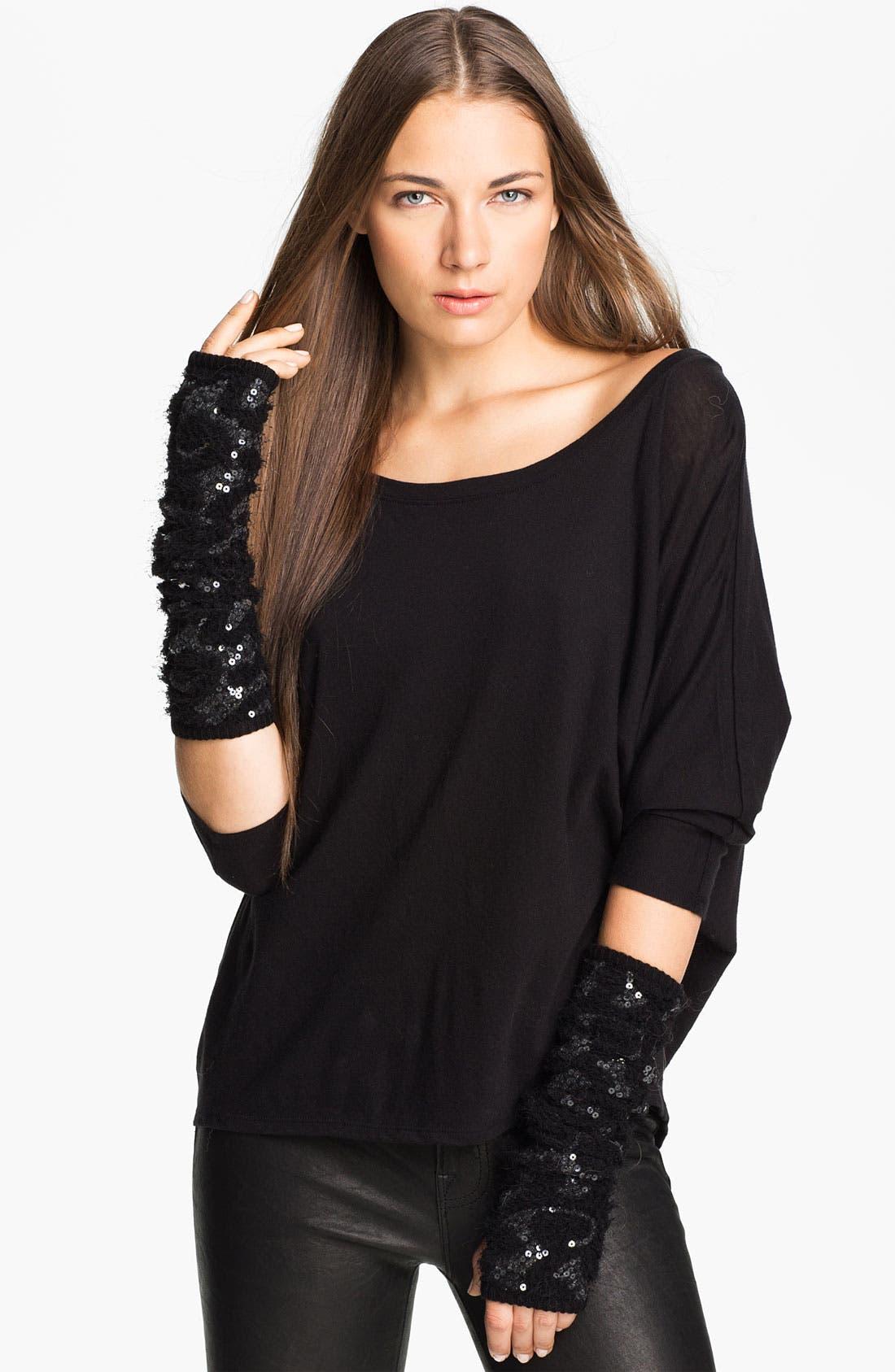 Main Image - Rachel Zoe Stretch Sequin Arm Warmers