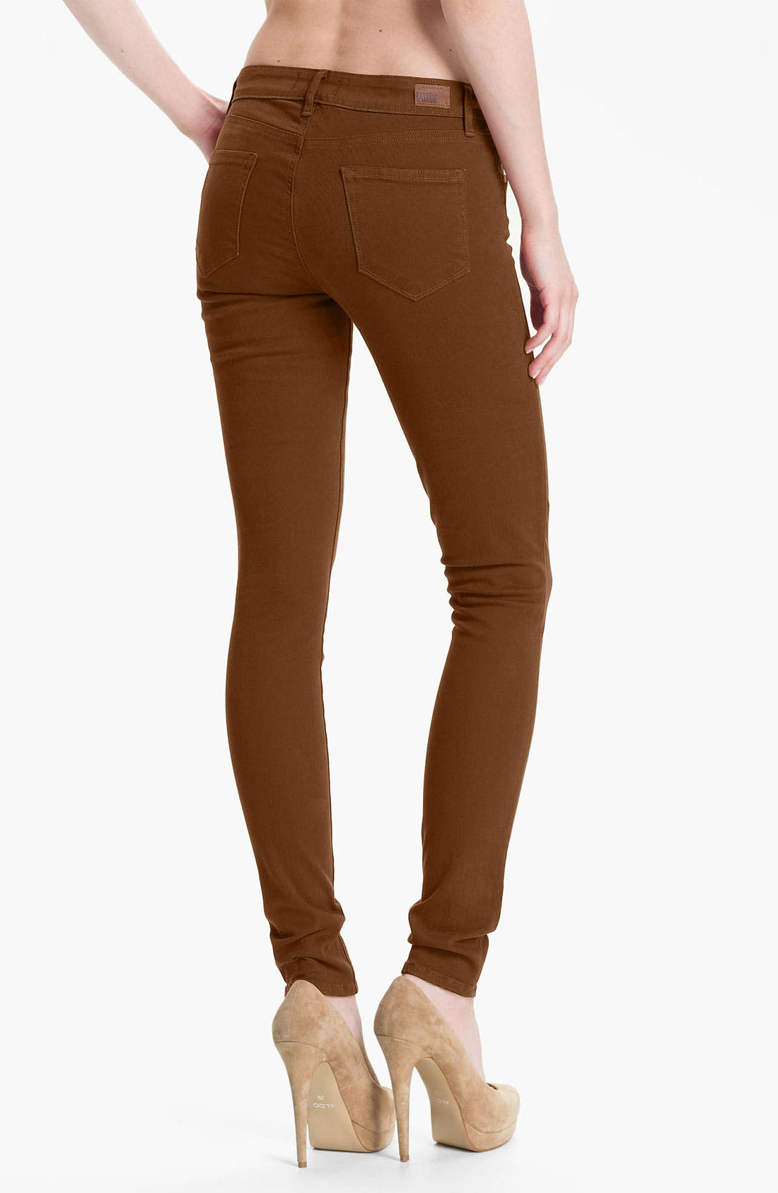 Alternate Image 2  - Paige Denim 'Verdugo' Skinny Stretch Denim Jeans (Burnt)