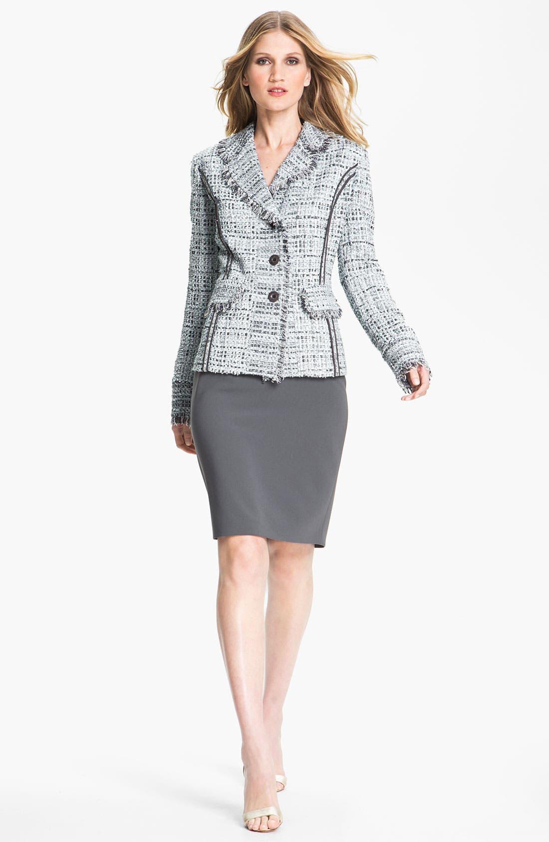 Alternate Image 1 Selected - St. John Collection Tweed Jacket & Crepe Marocain Skirt