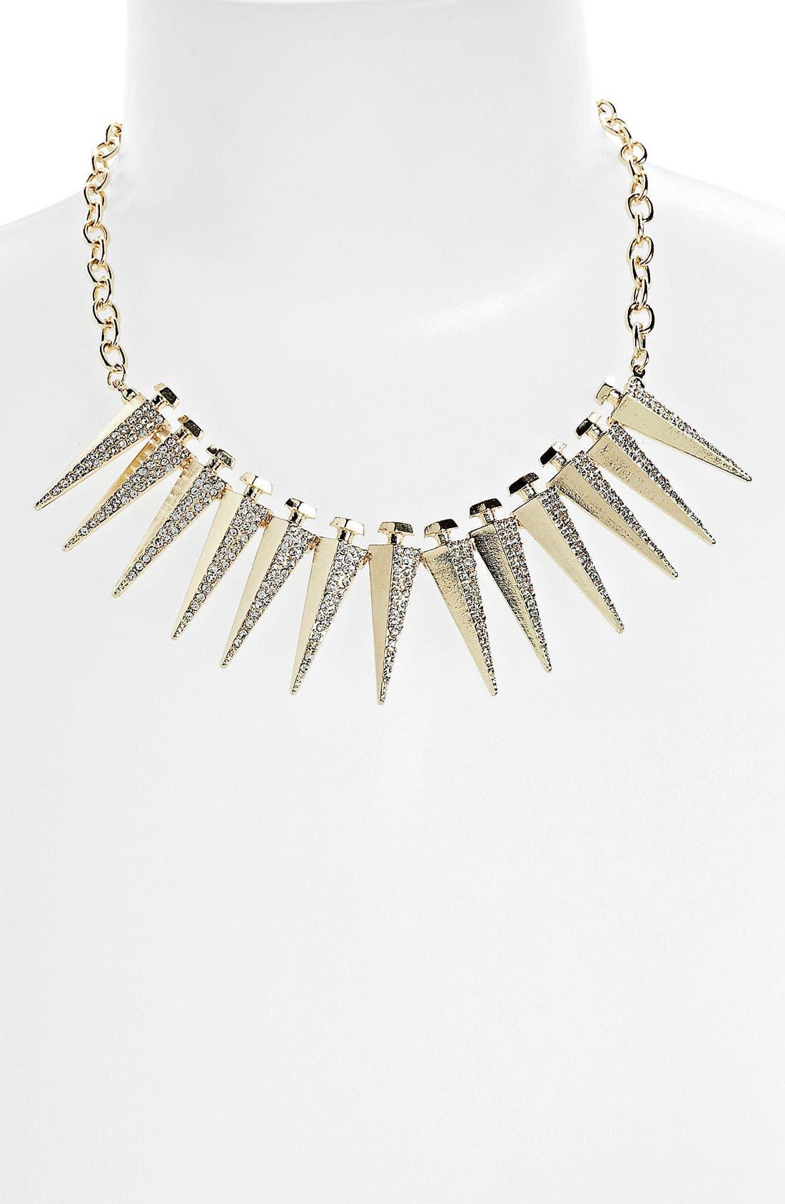 Main Image - BP. Rhinestone Spike Necklace