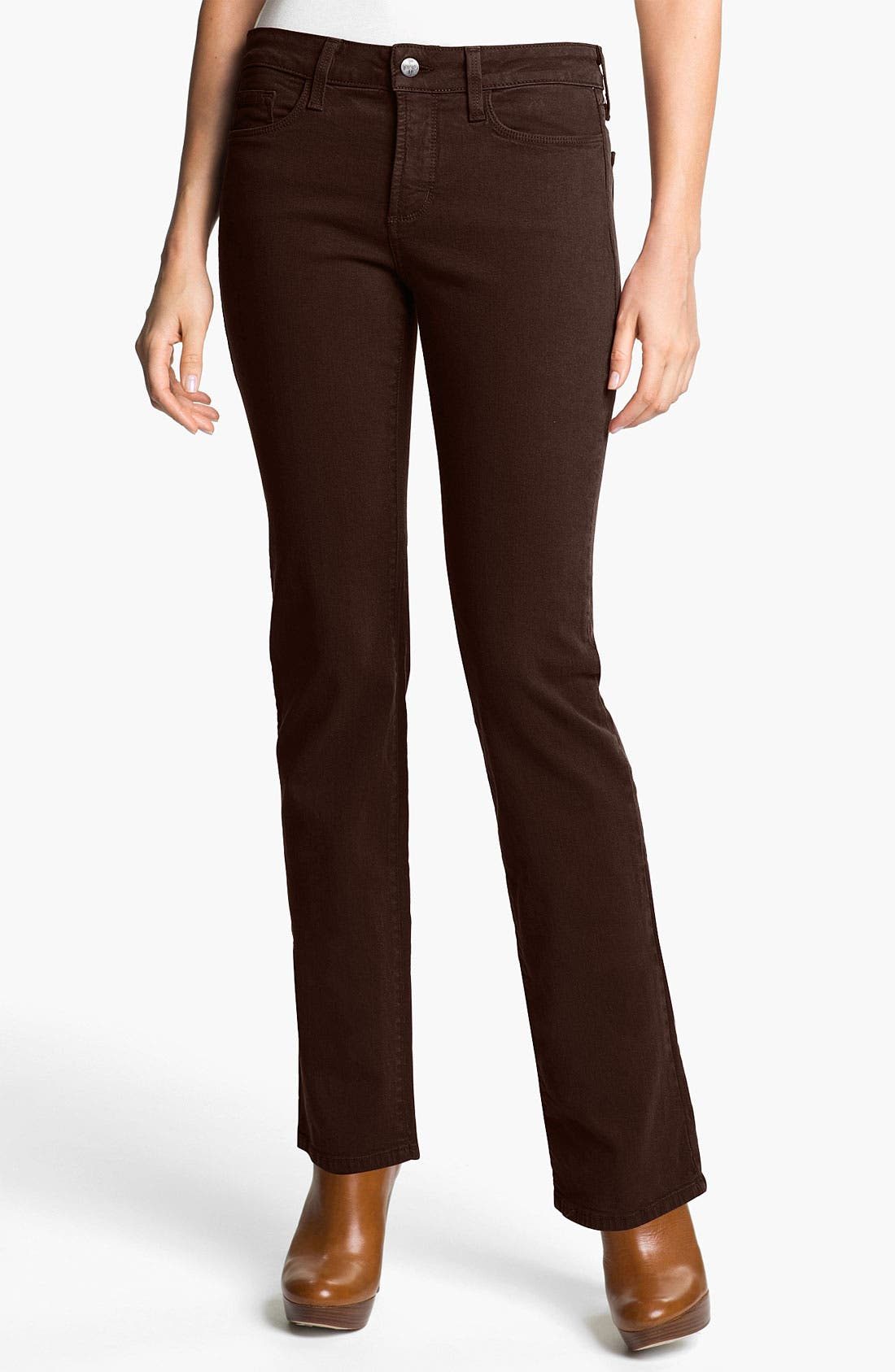 Alternate Image 1 Selected - NYDJ 'Marilyn' Embellished Straight Leg Stretch Jeans (Petite)