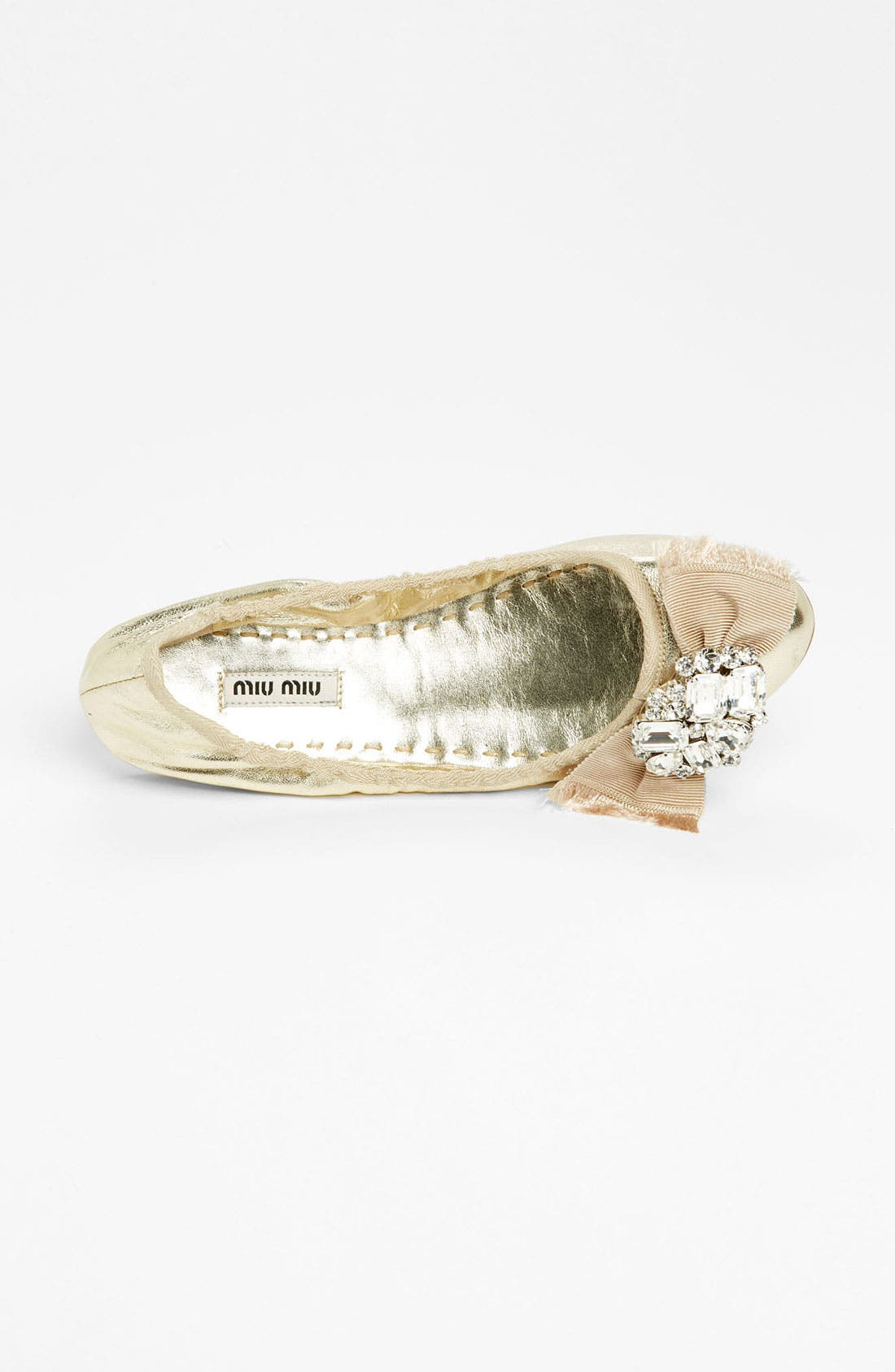 Alternate Image 3  - Miu Miu 'Crystal Bow' Ballerina Flat
