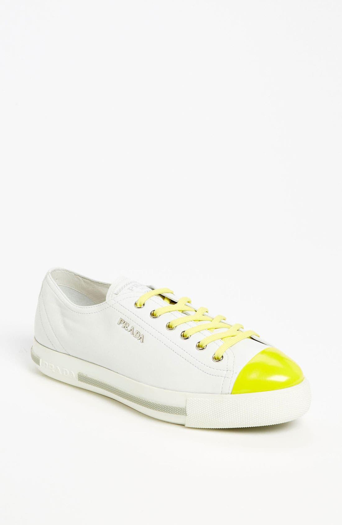 Alternate Image 1 Selected - Prada Cap Toe Sneaker