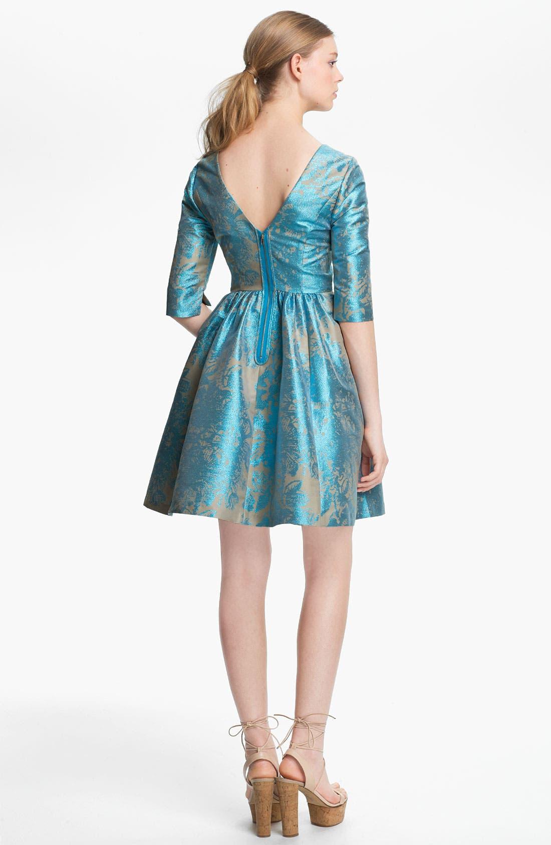 Alternate Image 2  - Tracy Reese Metallic Jacquard Dress