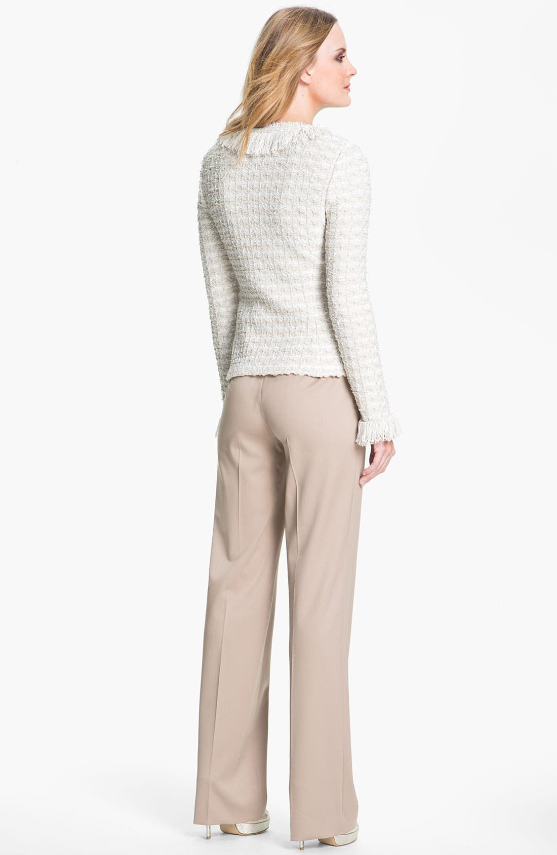 Alternate Image 4  - St. John Collection Shredded Trim Tweed Jacket