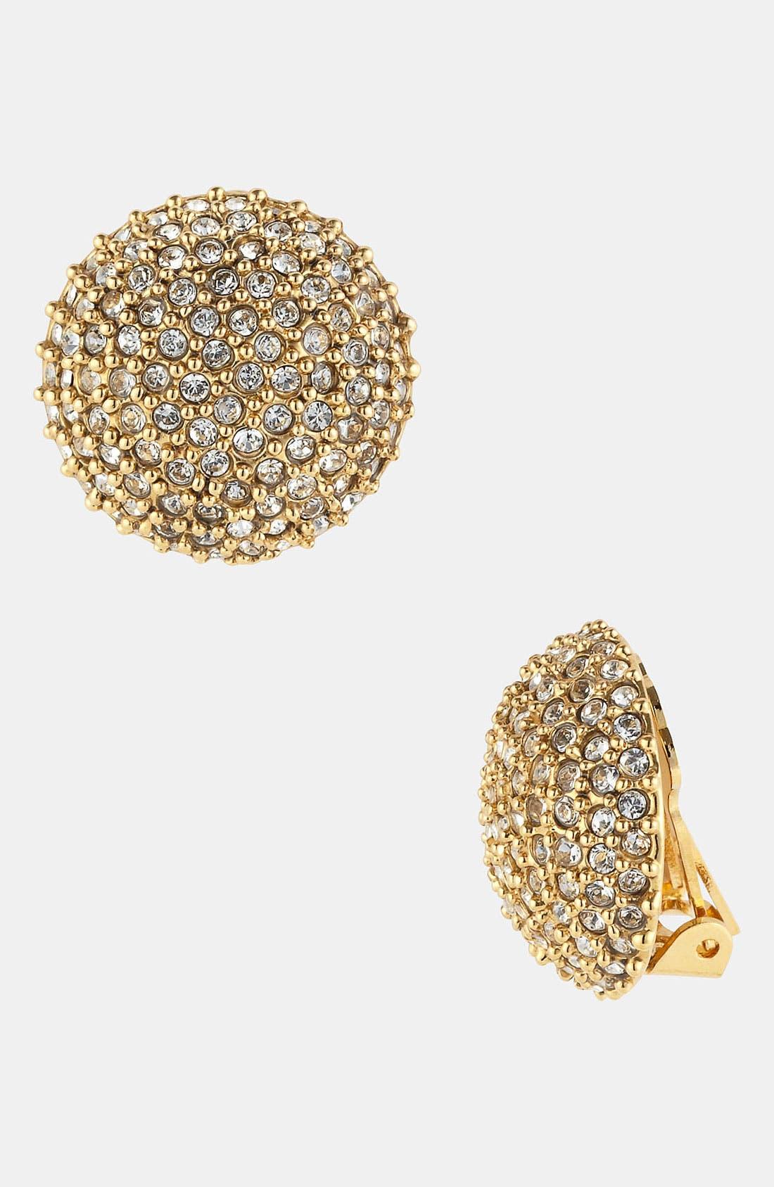 Alternate Image 1 Selected - St. John Collection Pavé Stone Clip Earrings