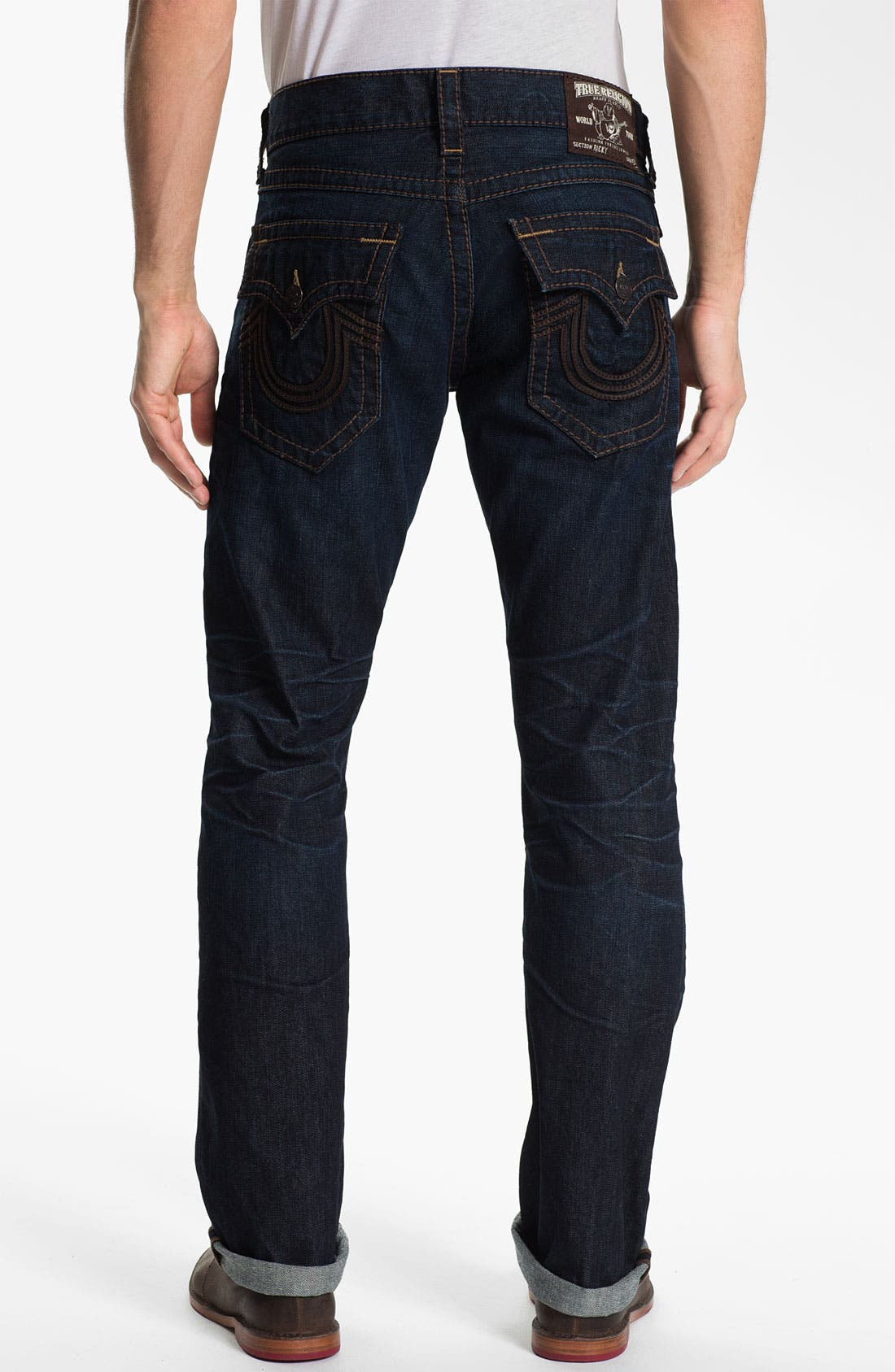 Alternate Image 1 Selected - True Religion Brand Jeans 'Ricky' Straight Leg Jeans (Overland) (Online Exclusive)