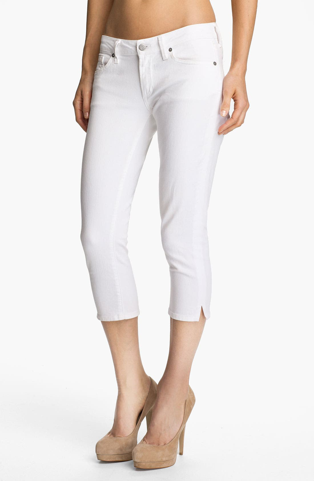 Main Image - Citizens of Humanity 'Racer' Crop Skinny Jeans (Santorini)