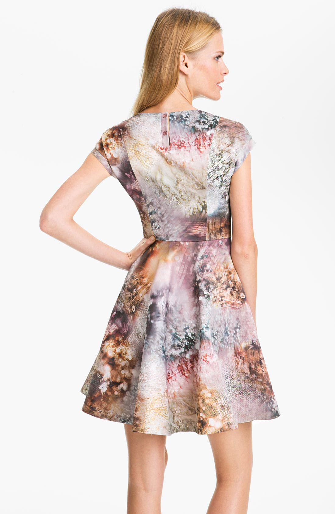 Alternate Image 2  - Ted Baker London 'Media' Satin Fit & Flare Dress