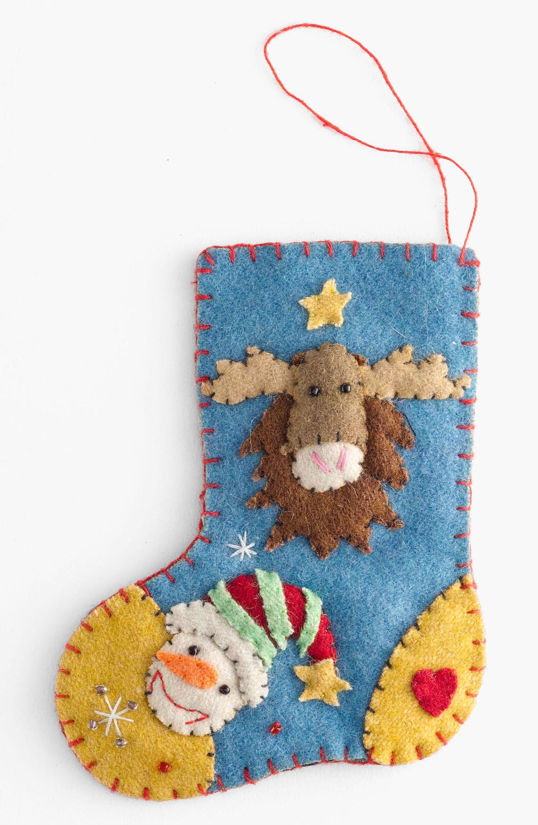 Alternate Image 1 Selected - New World Arts 'Moose' Stocking Ornament