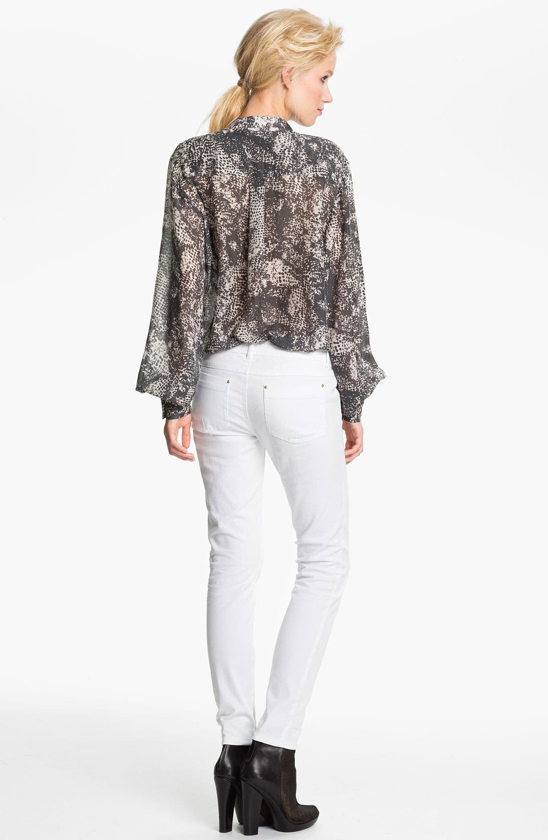 Alternate Image 2  - Rachel Zoe 'Miley' Snake Print Dolman Sleeve Blouse