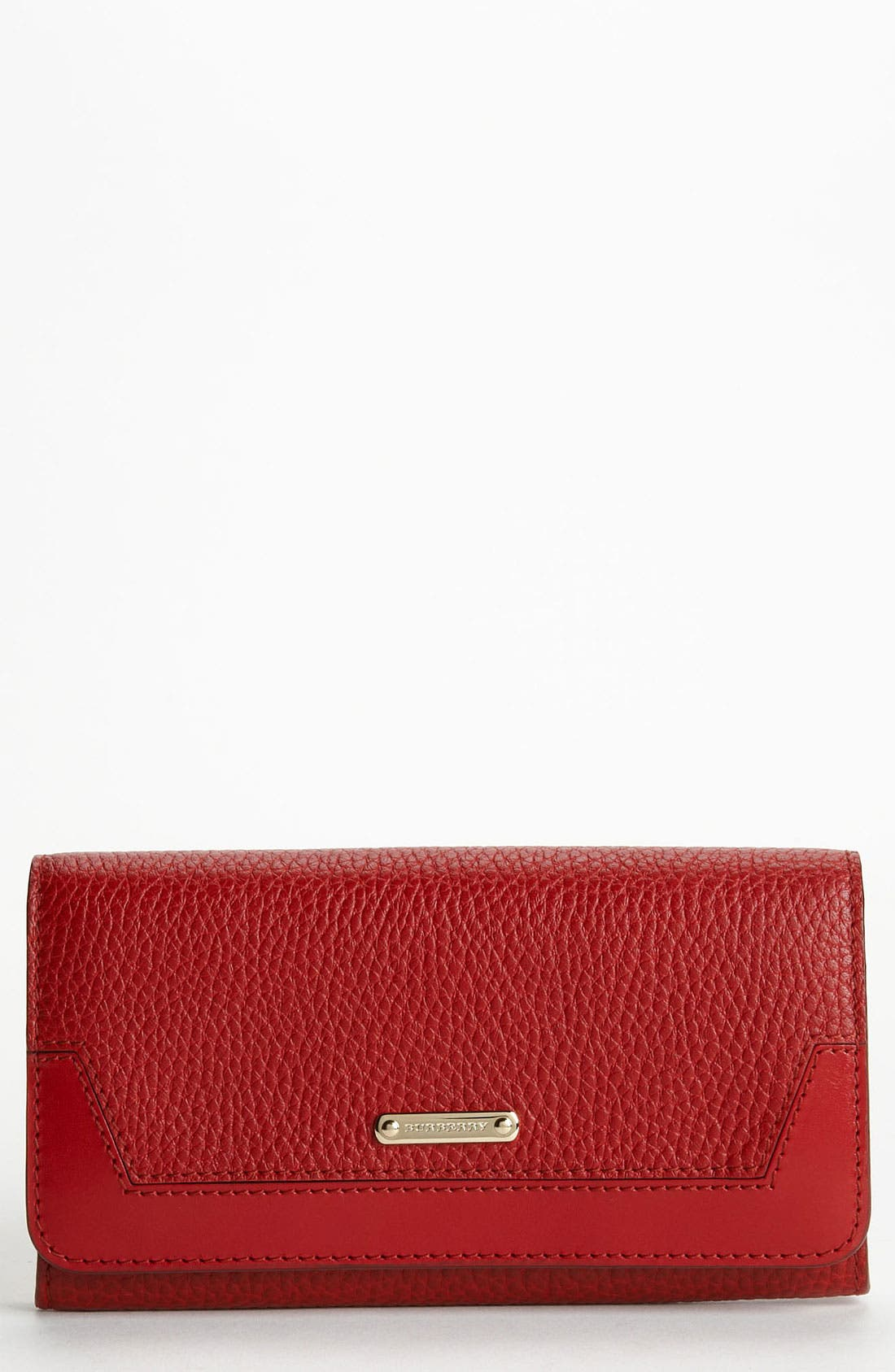 Main Image - Burberry 'London Grainy' Flap Wallet