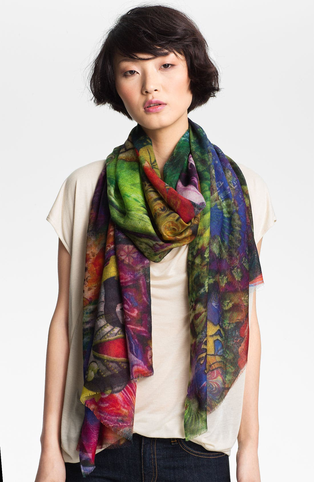 Main Image - Shawlux 'Aries' Cashmere & Silk Scarf