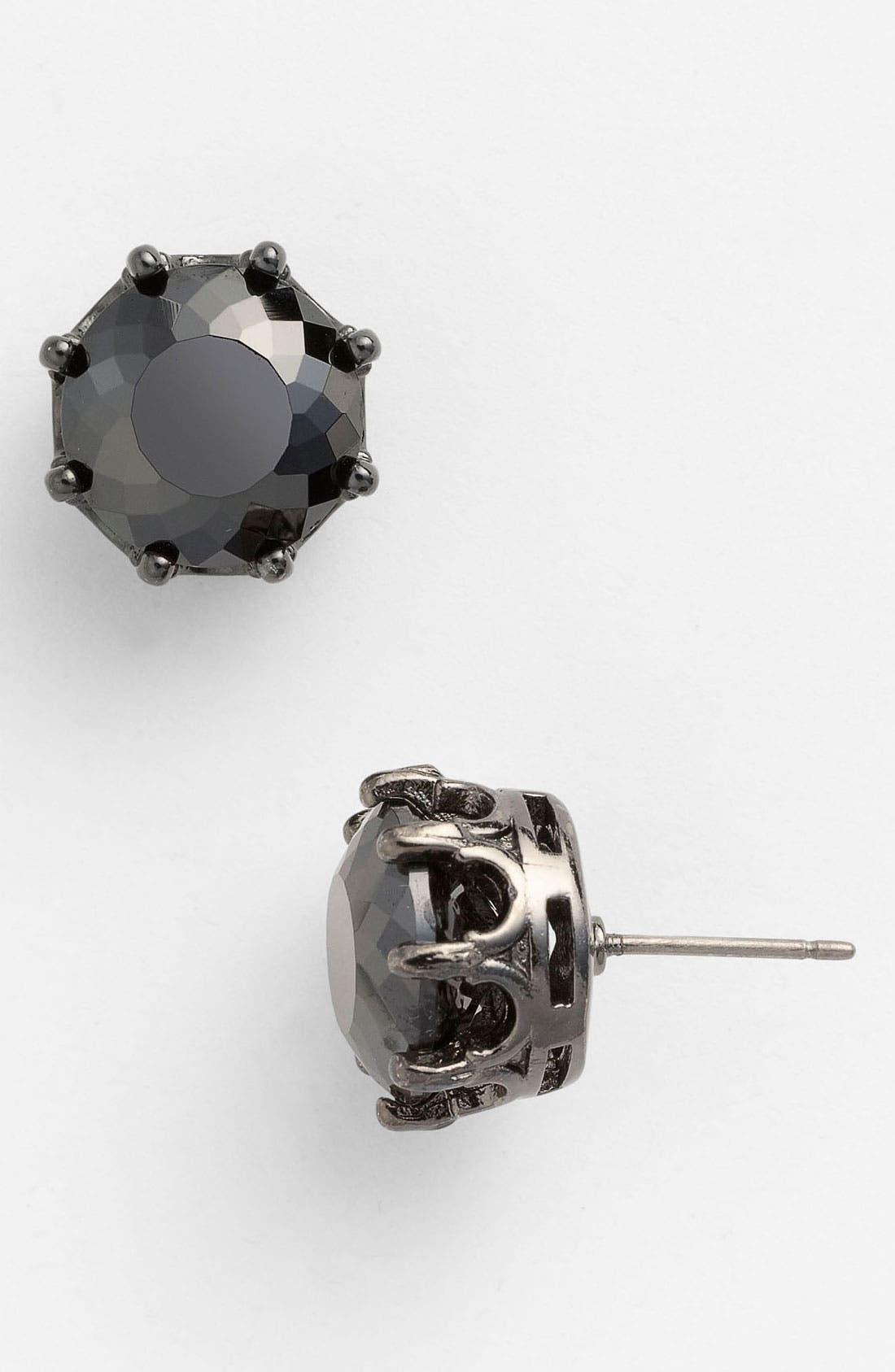 'Punk Rocks' Oversized Stud Earrings,                         Main,                         color, Jet/ Hematite