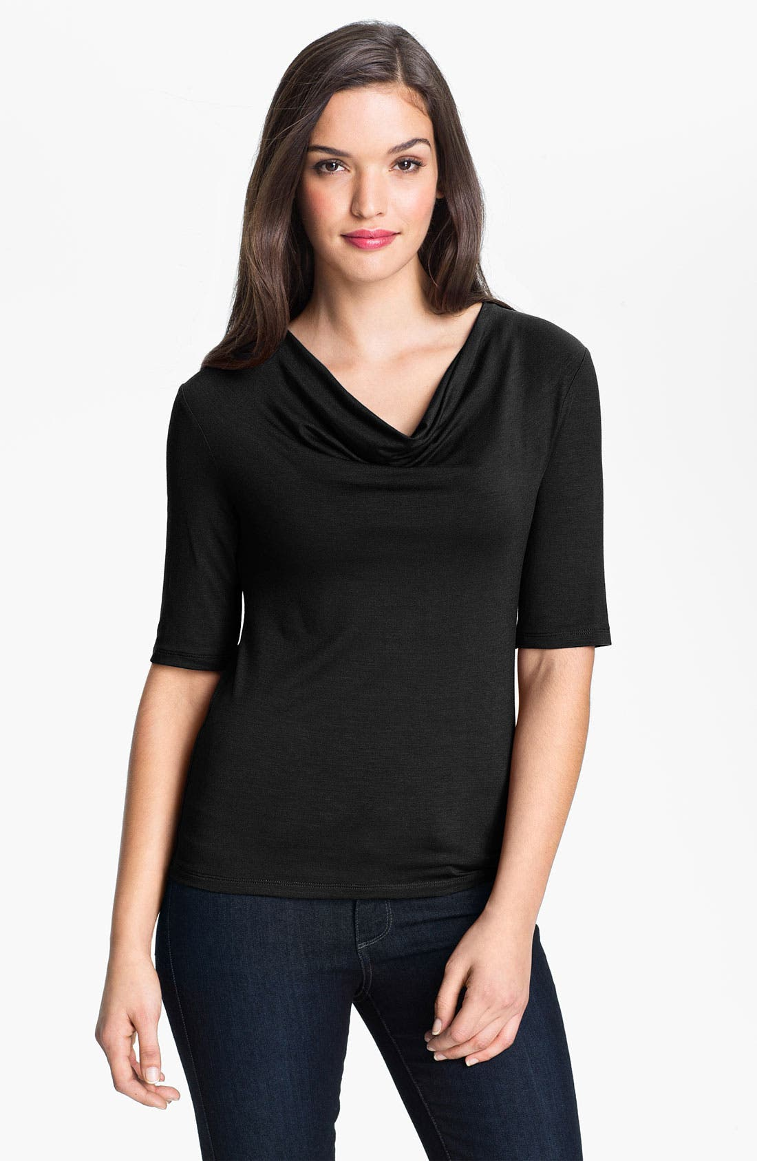 Main Image - Purity Cowl Neck Elbow Sleeve Top