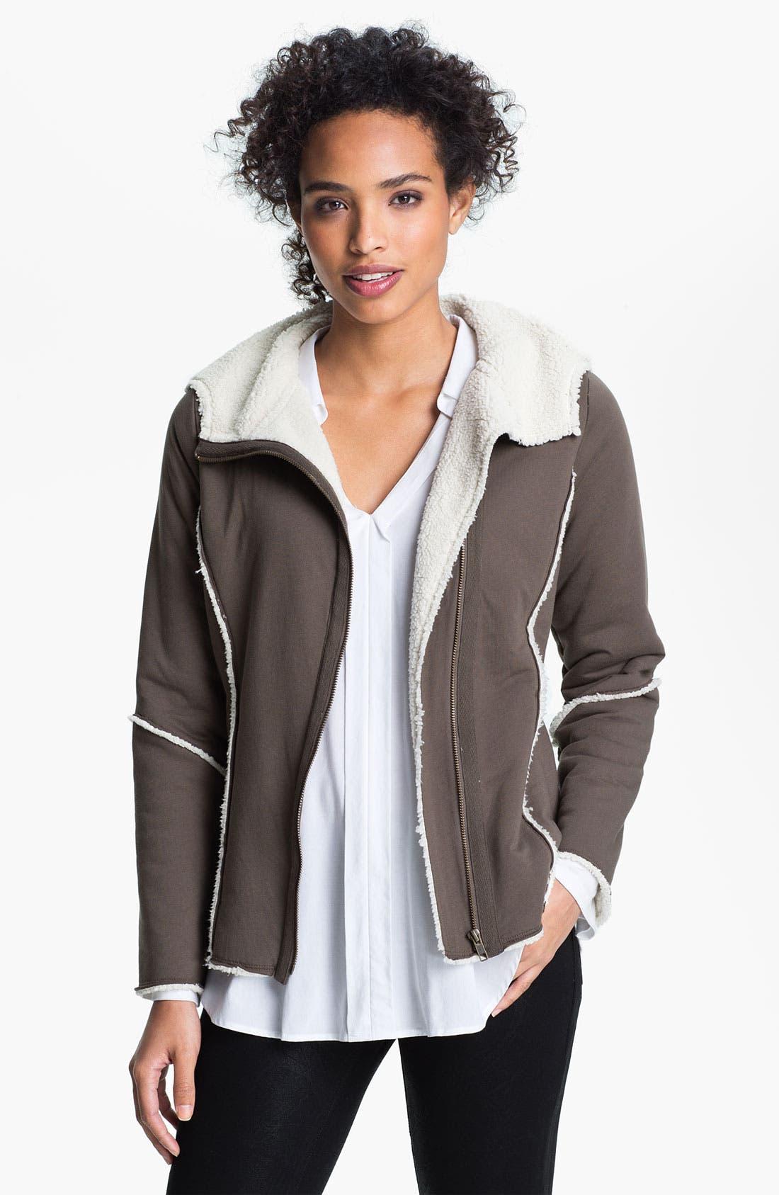 Main Image - Caslon® Faux Fur Lined Hoodie