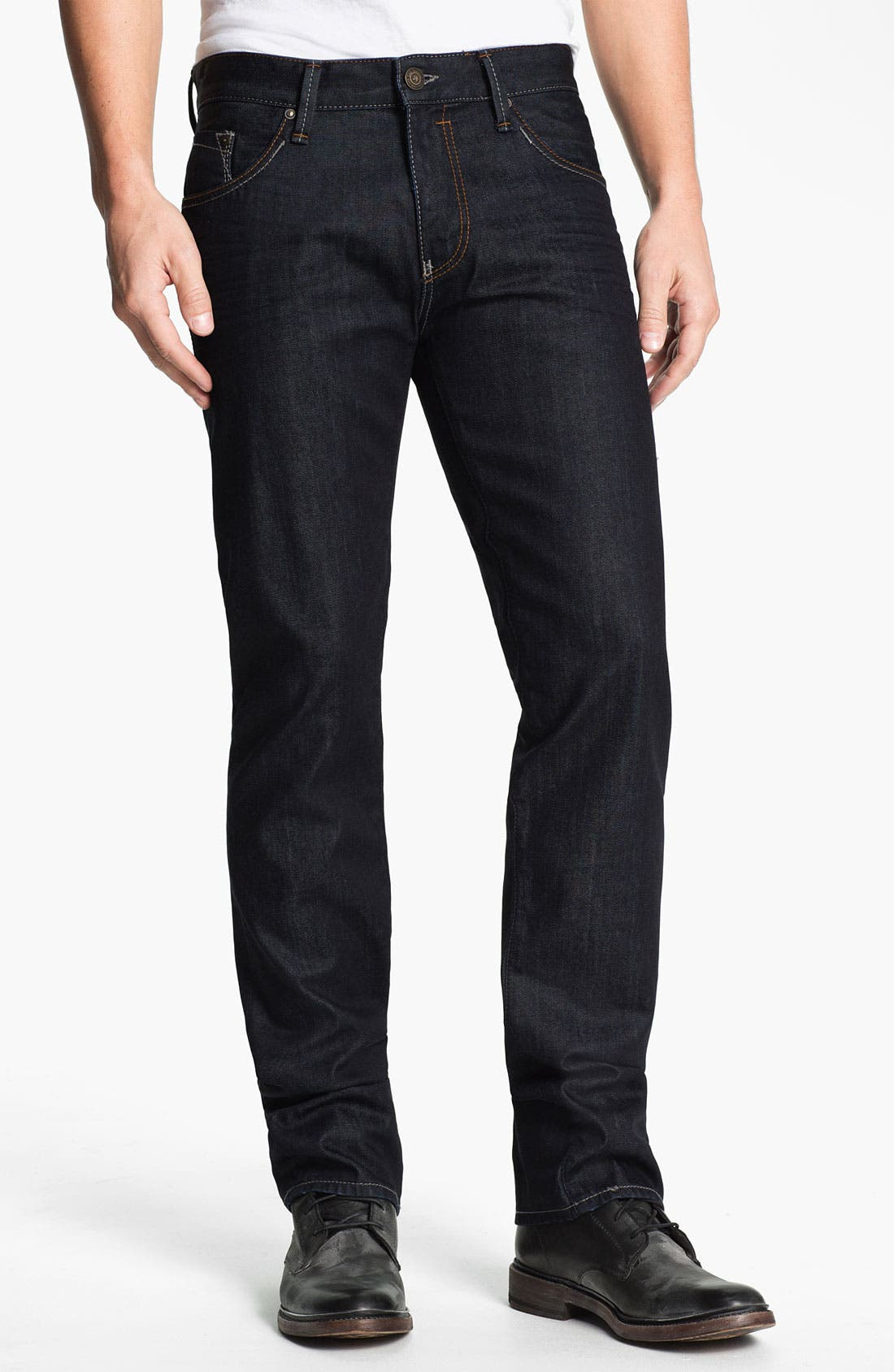 Alternate Image 2  - Mavi Jeans 'Zach' Straight Leg Jeans (Rinse Jameson)