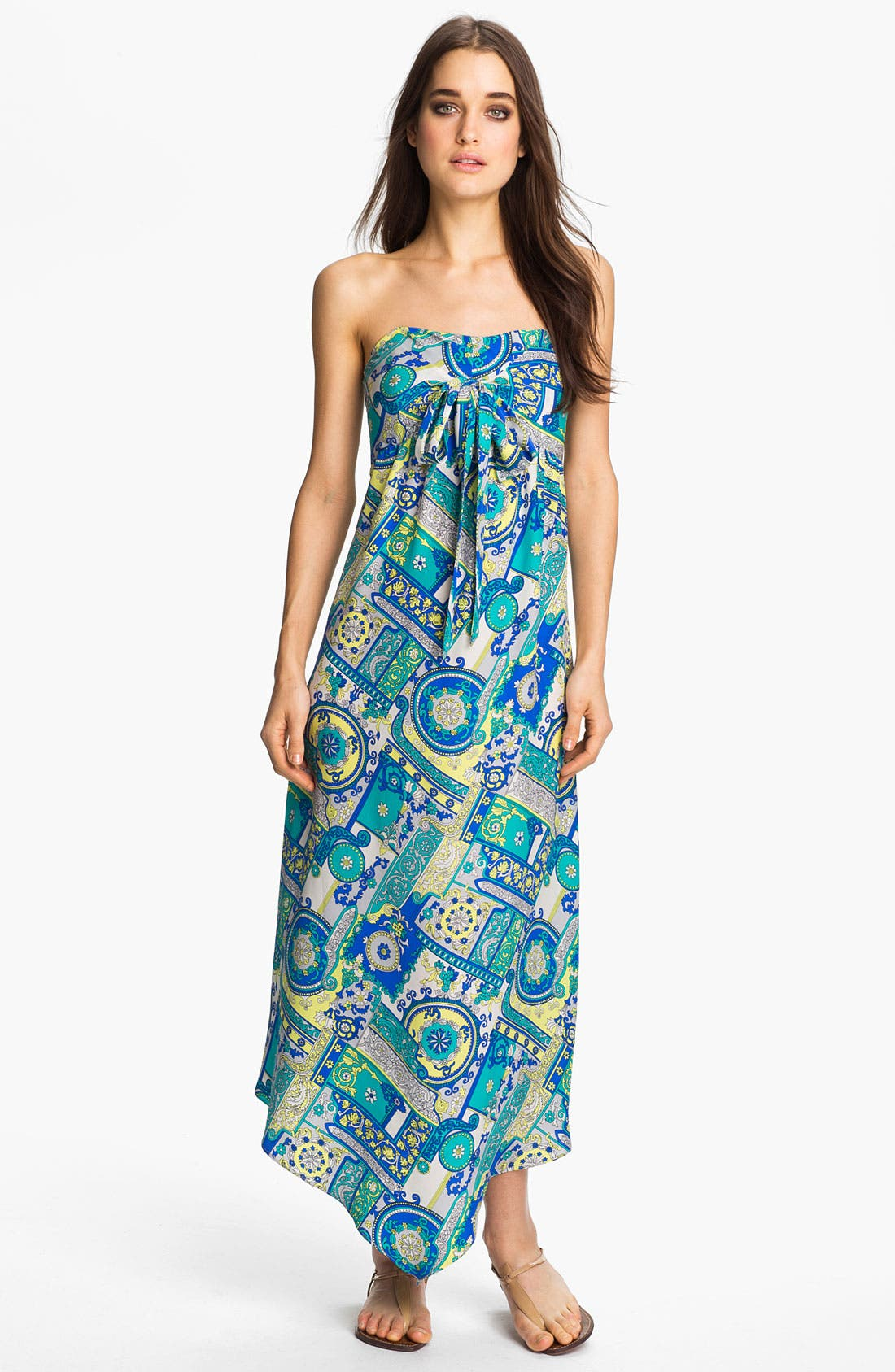 Main Image - ALICE & TRIXIE 'Savannah' Convertible Tie Silk Maxi Dress