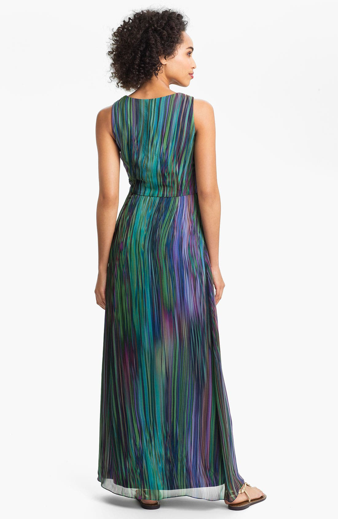 Alternate Image 2  - Donna Ricco Printed Surplice Maxi Dress